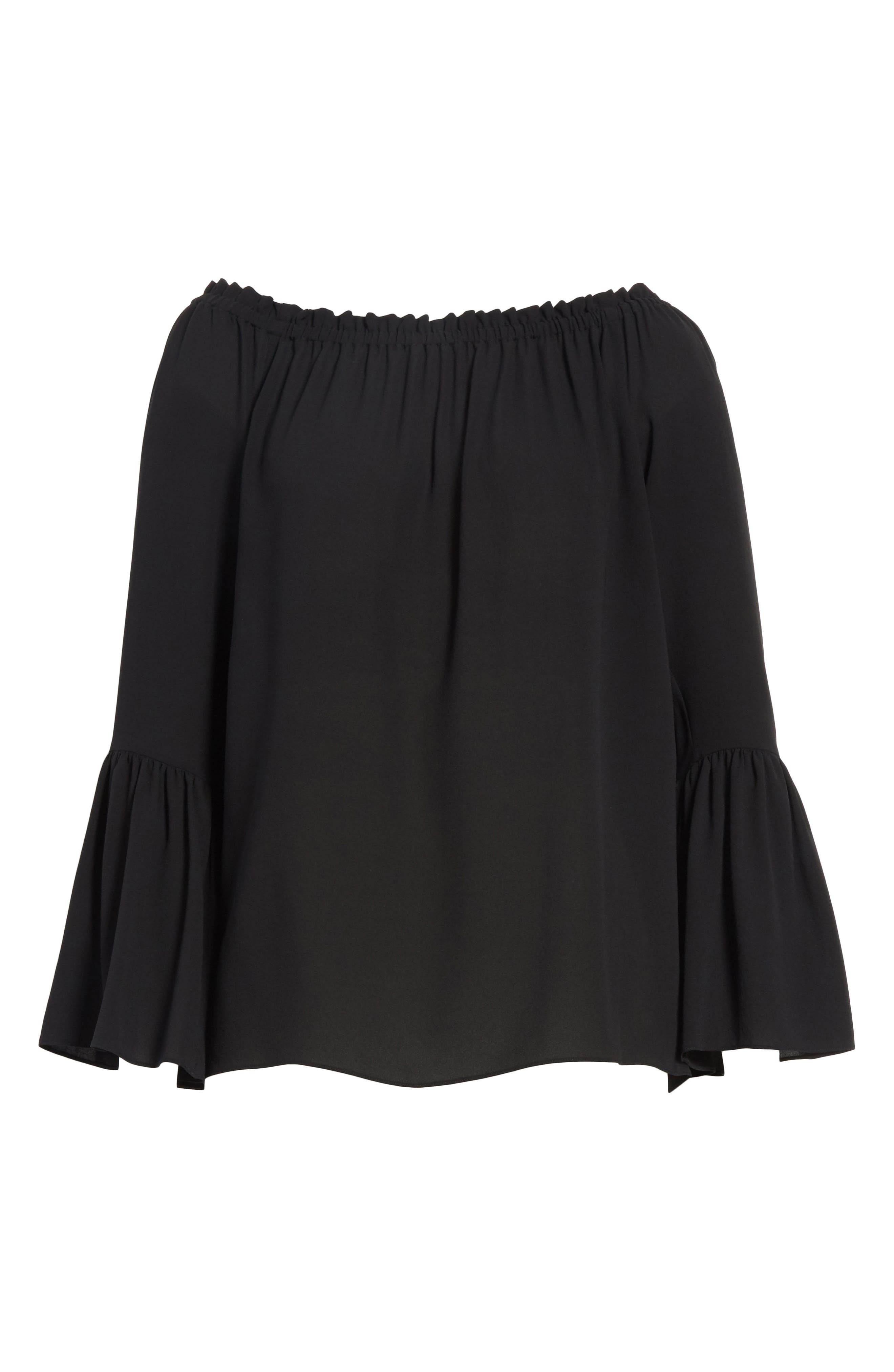 Alternate Image 6  - Michael Kors Silk Georgette Off the Shoulder Top