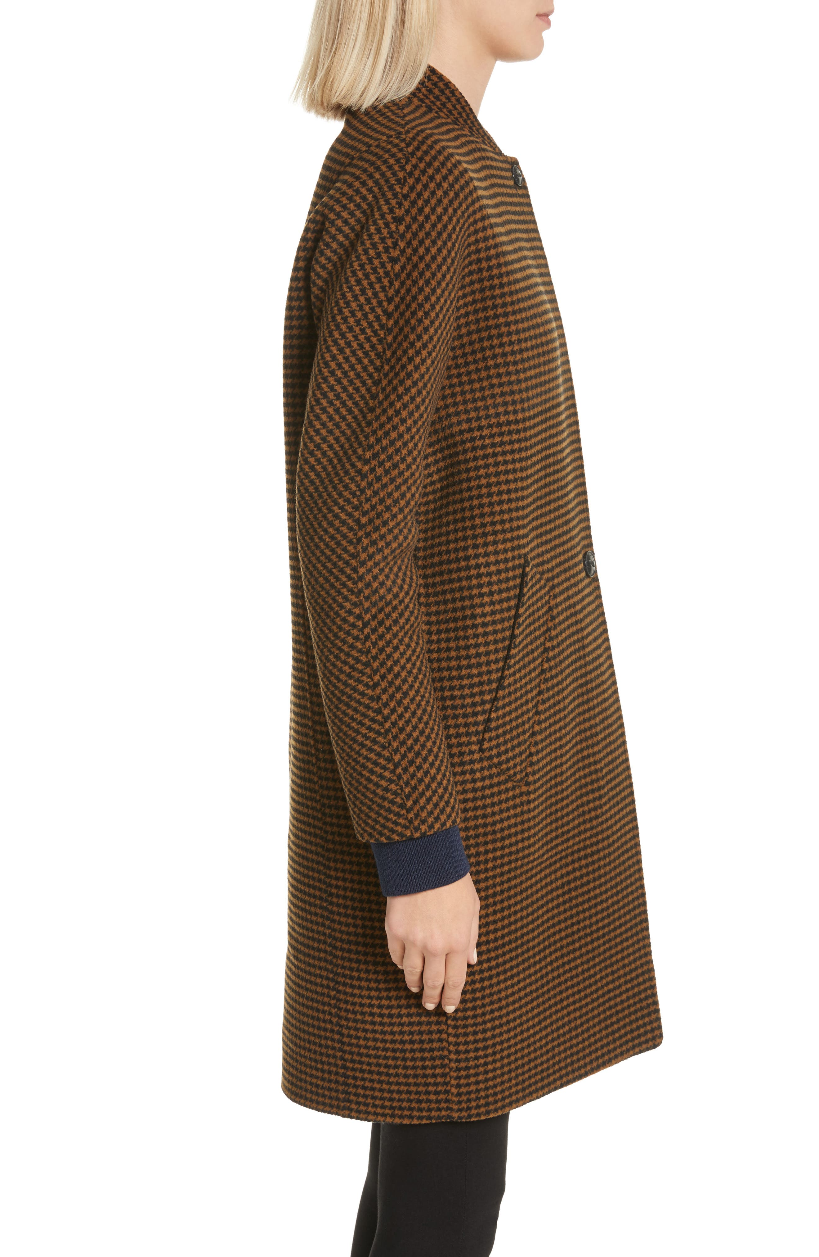 Darwen Reversible Wool & Cashmere Coat,                             Alternate thumbnail 5, color,                             Brown/Black