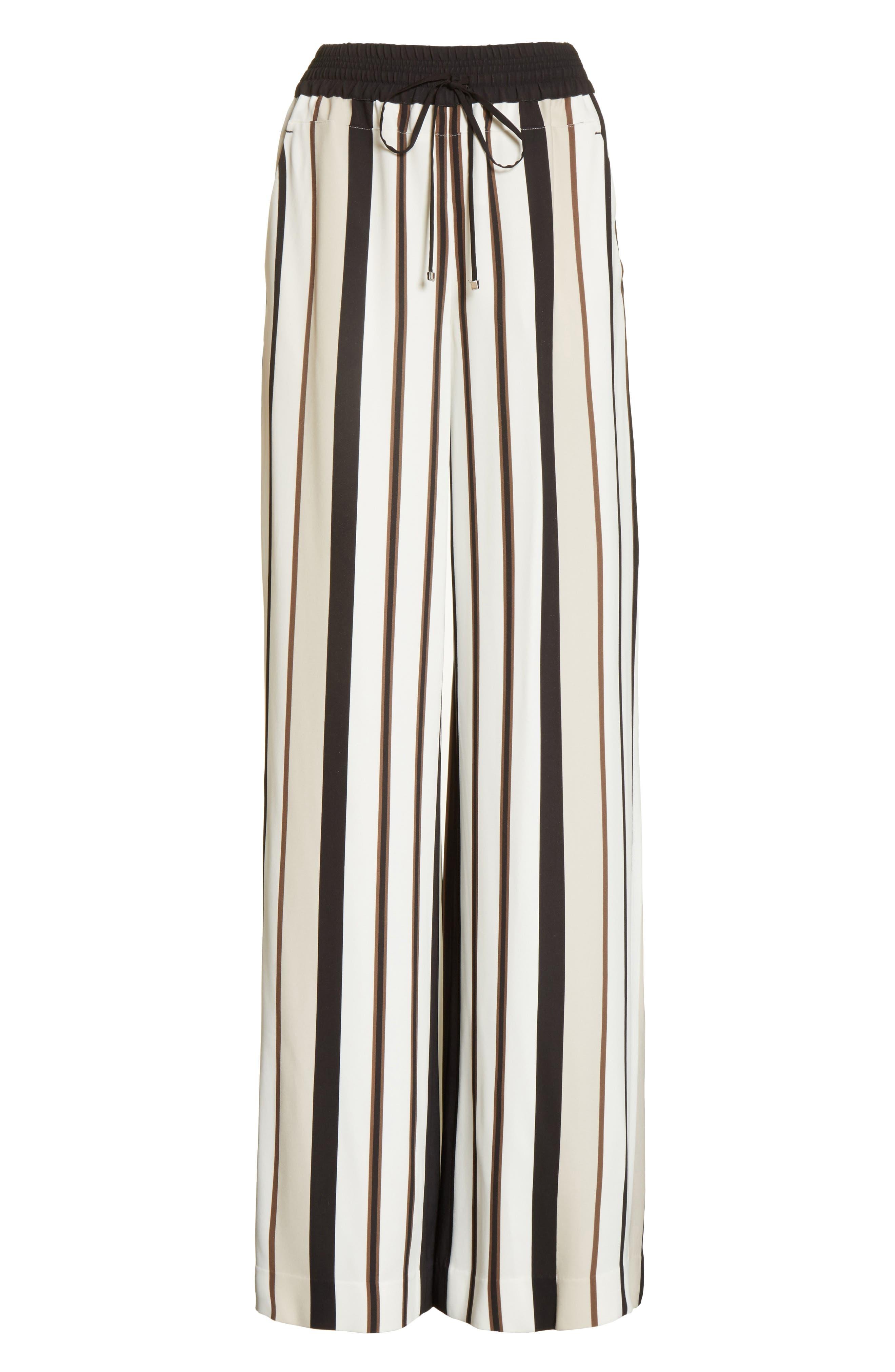 Allen Legacy Stripe Drape Cloth Pants,                             Alternate thumbnail 7, color,                             Black Multi