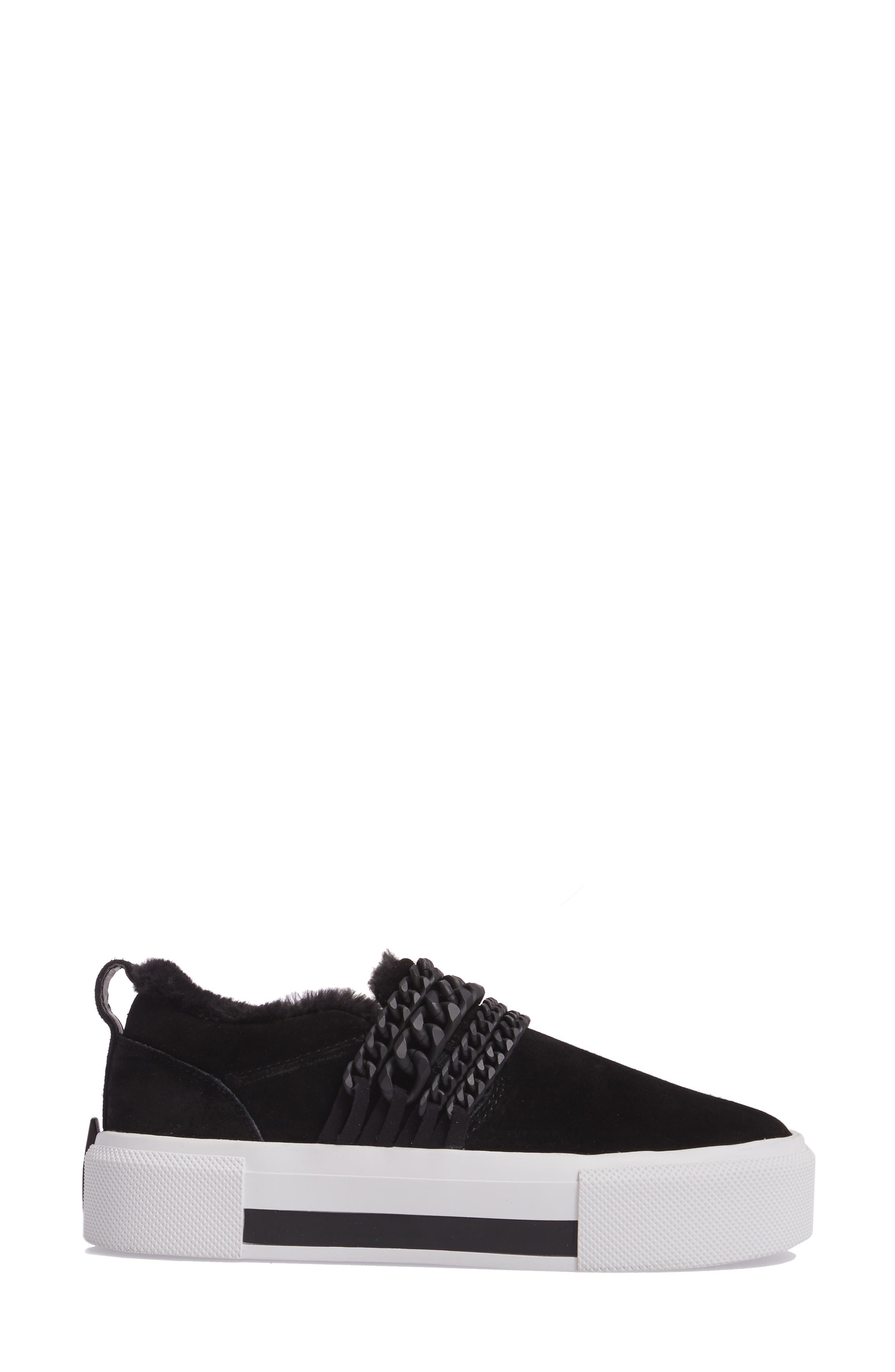 Tory Platform Sneaker,                             Alternate thumbnail 3, color,                             Black