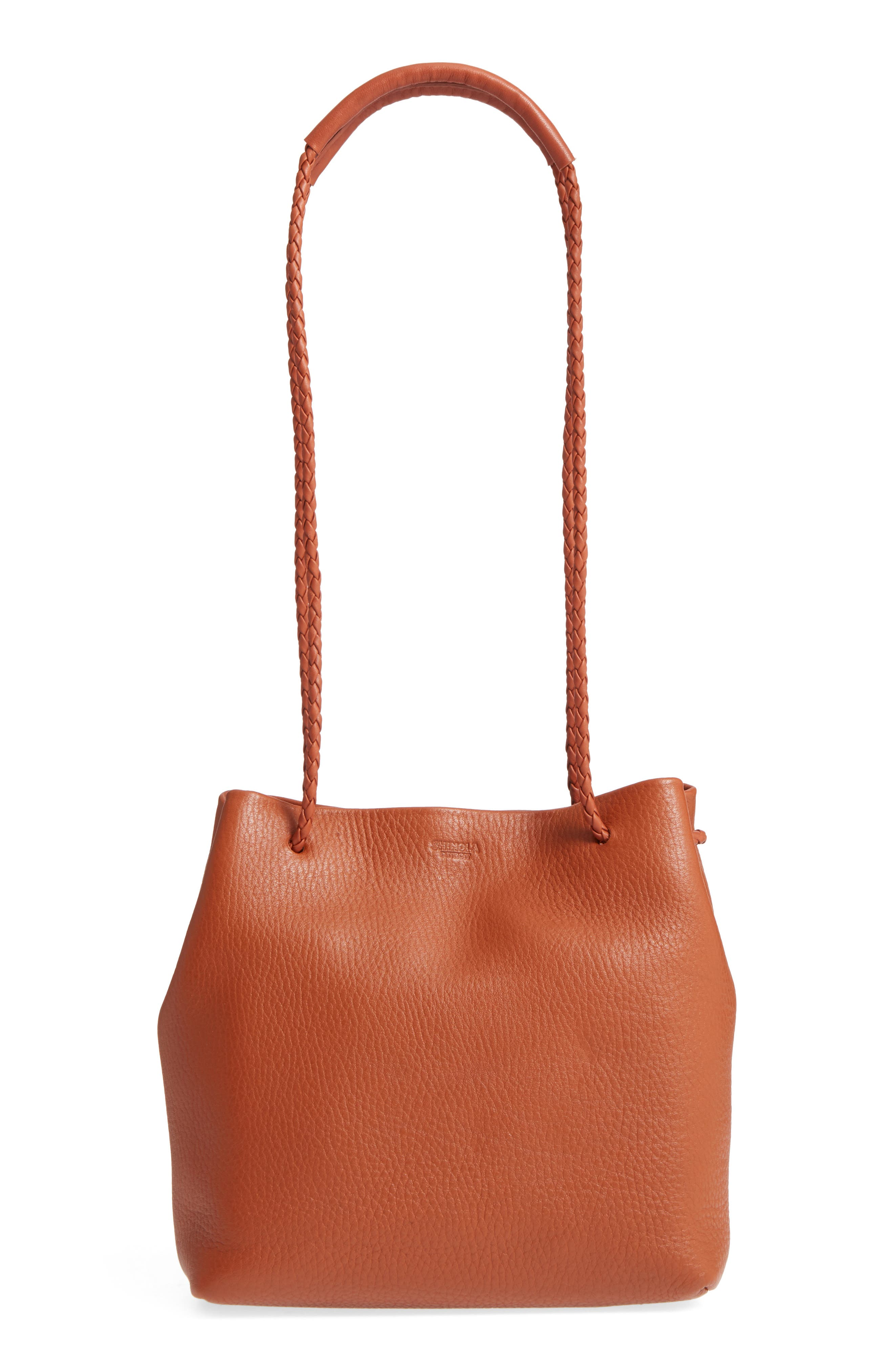 Alternate Image 3  - Shinola Mini Pebbled Leather Drawstring Crossbody Bag