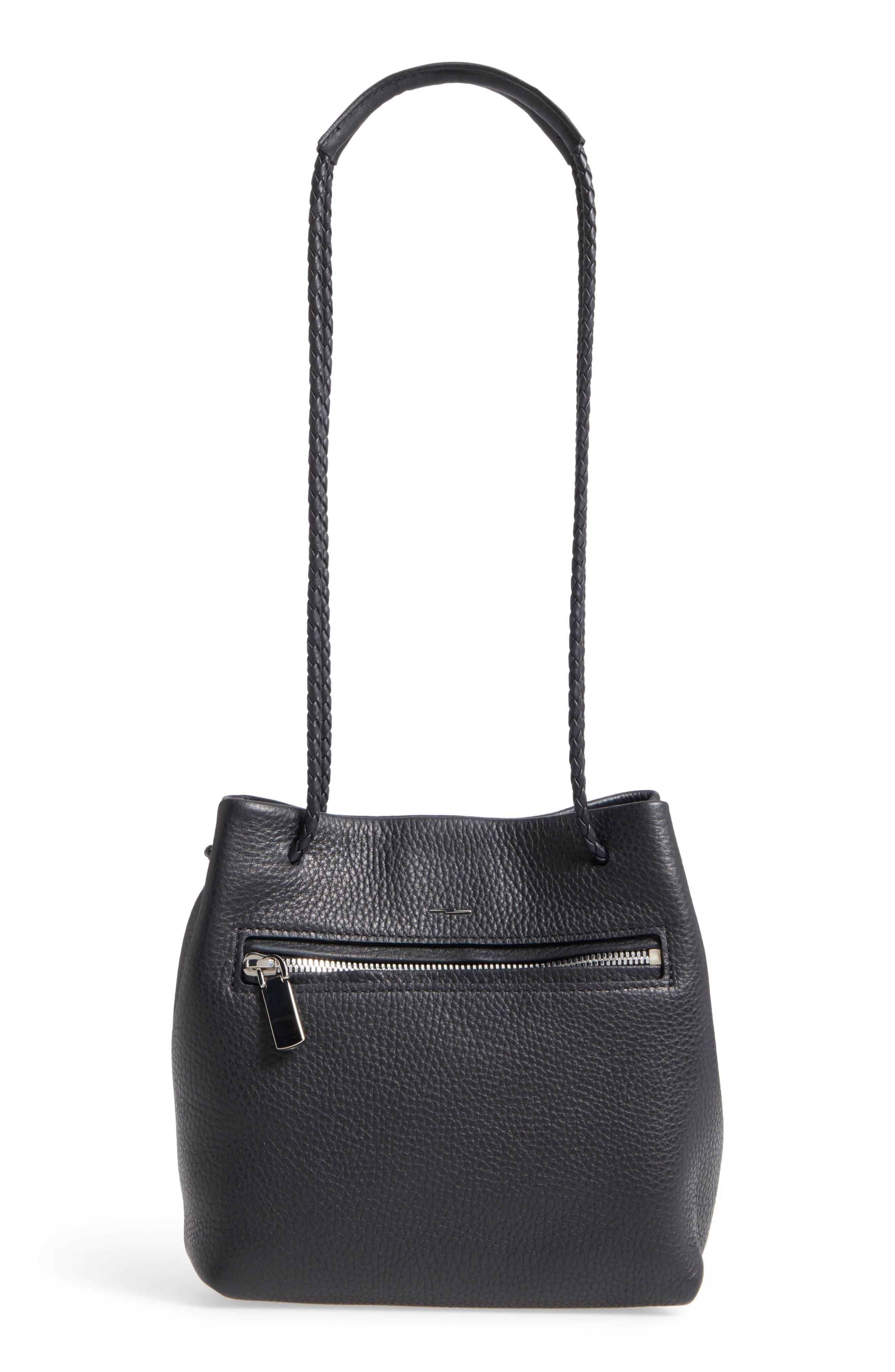 Alternate Image 1 Selected - Shinola Mini Pebbled Leather Drawstring Crossbody Bag