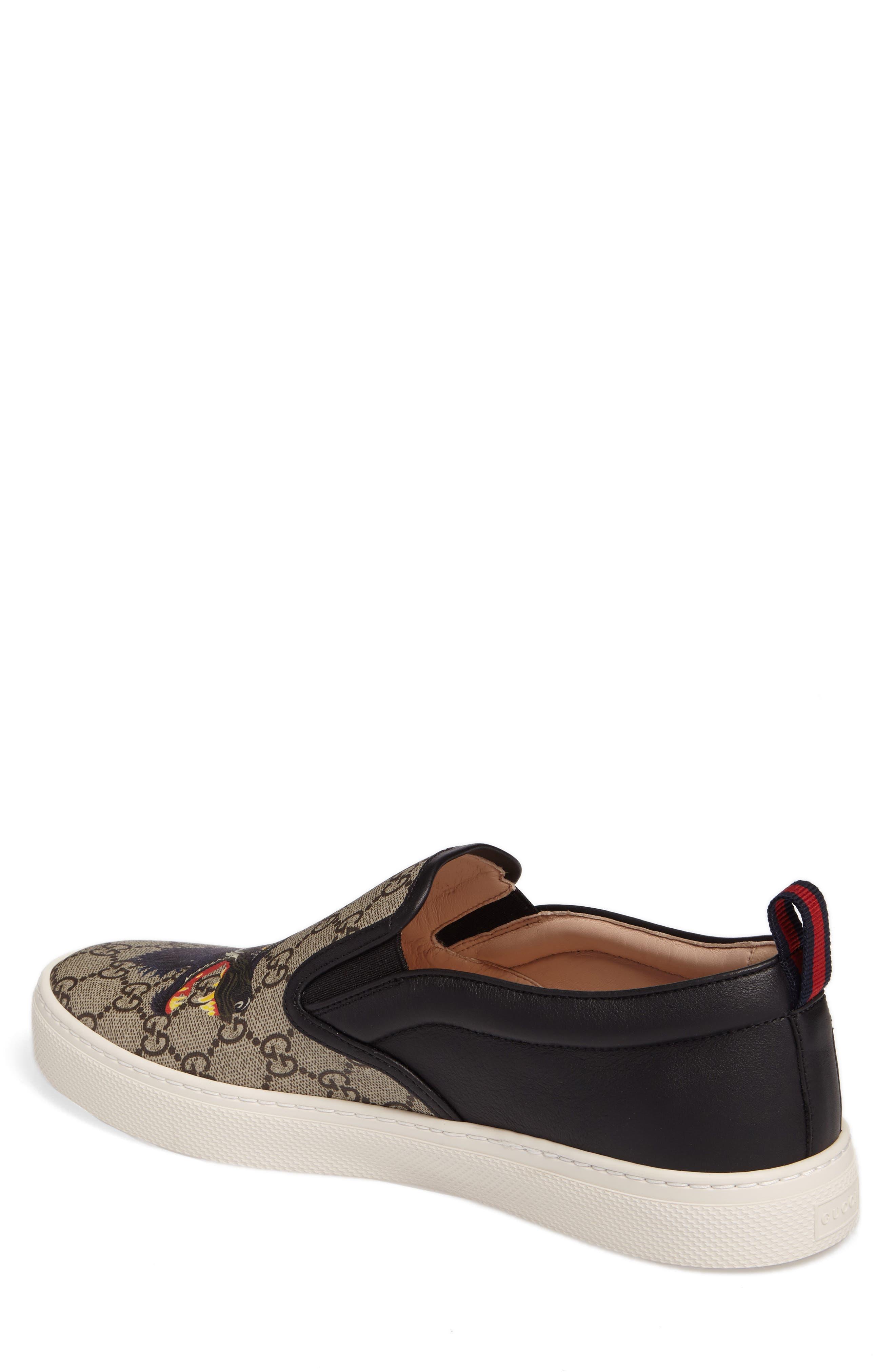 Wolf GG Supreme Slip-On Sneaker,                             Alternate thumbnail 2, color,                             Beige/ Ebony