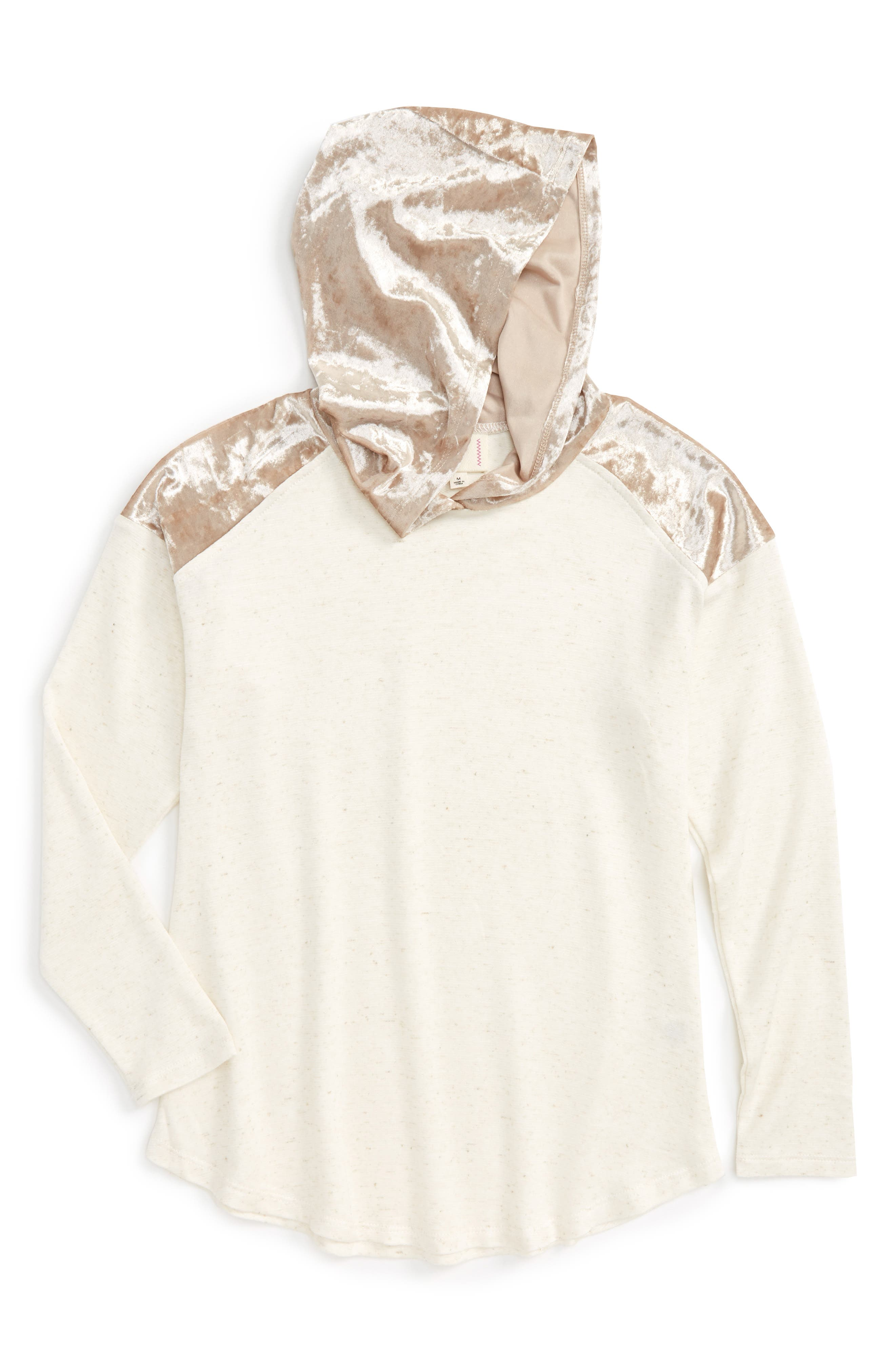 h.i.p. Mixed Media Hooded Tee (Big Girls)