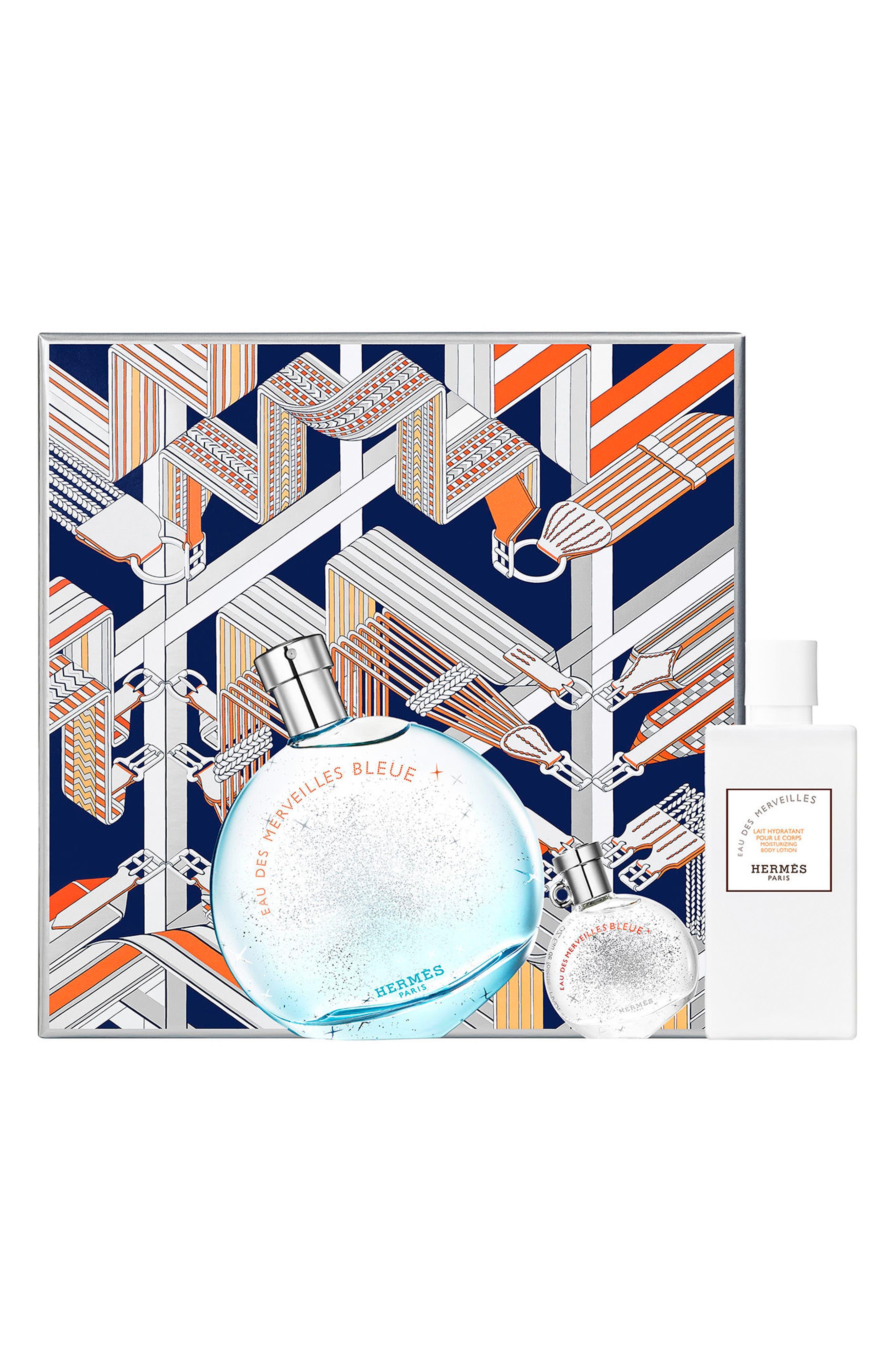 Main Image - Hermès Eau des Merveilles Bleue - Eau de toilette set