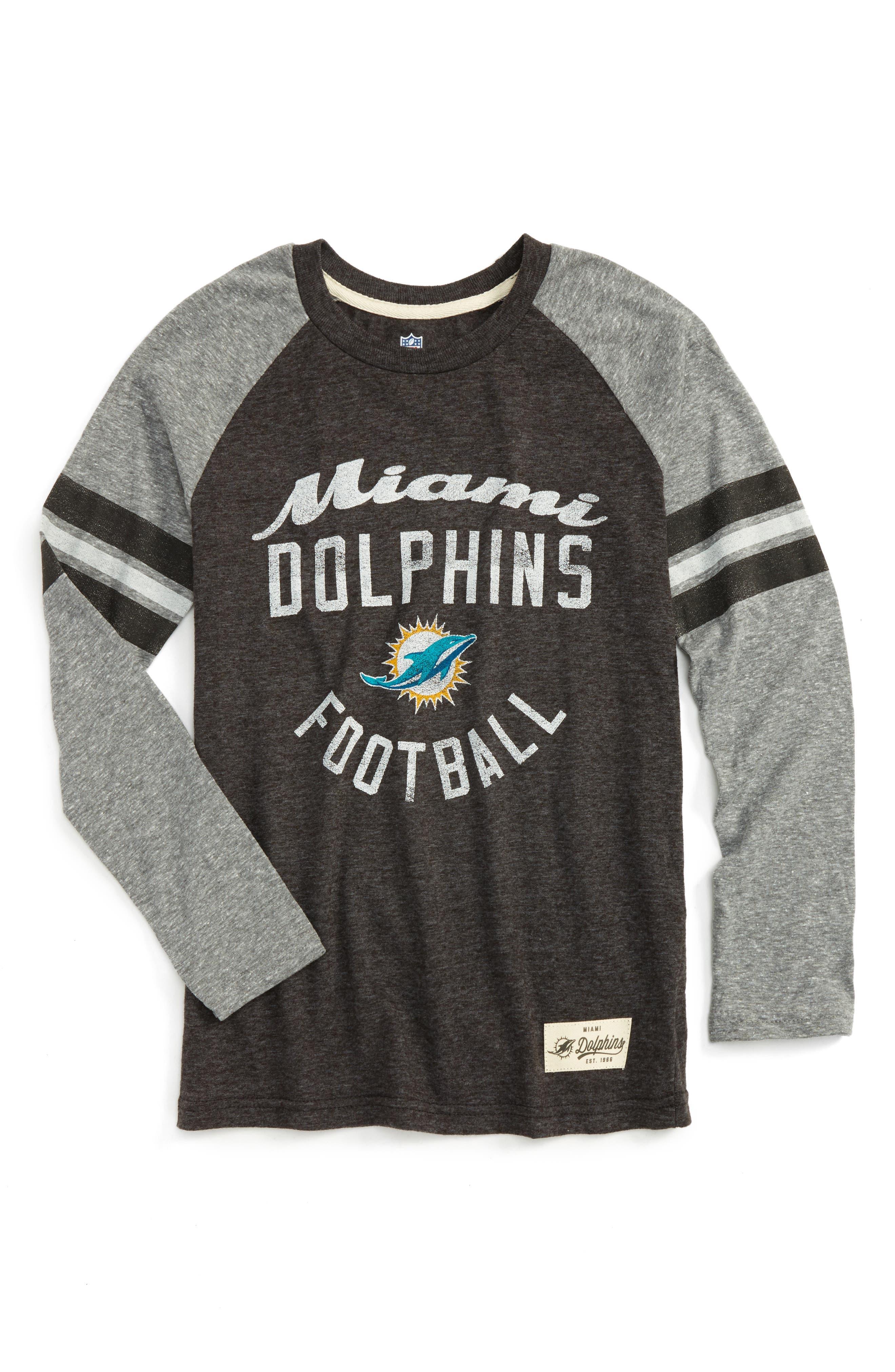 NFL Logo Miami Dolphins Pride Long Sleeve T-Shirt (Big Boys)