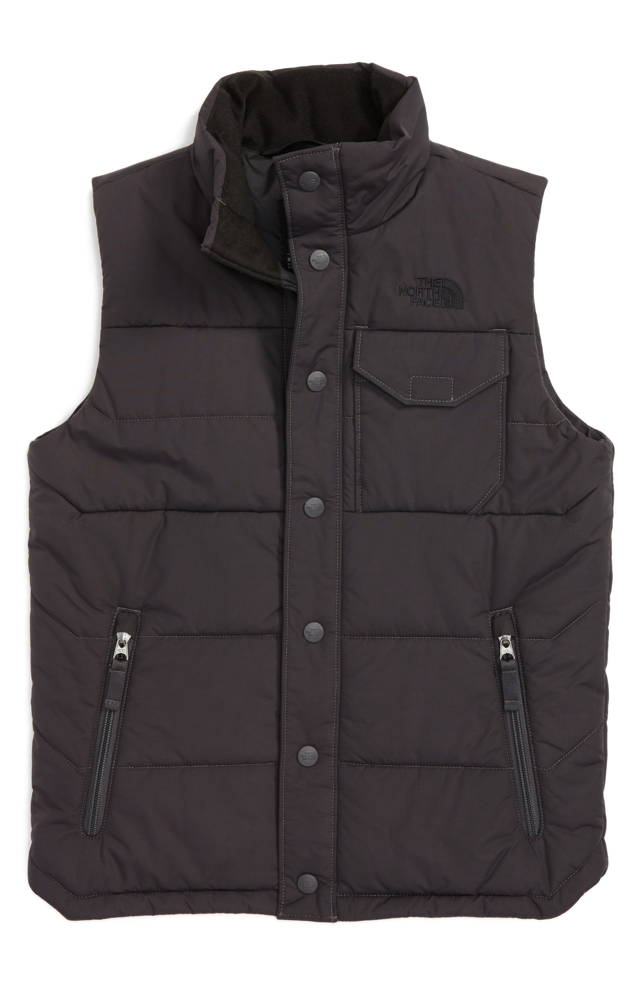 Patrick's Point Quilted Down Vest,                         Main,                         color, Graphite Grey