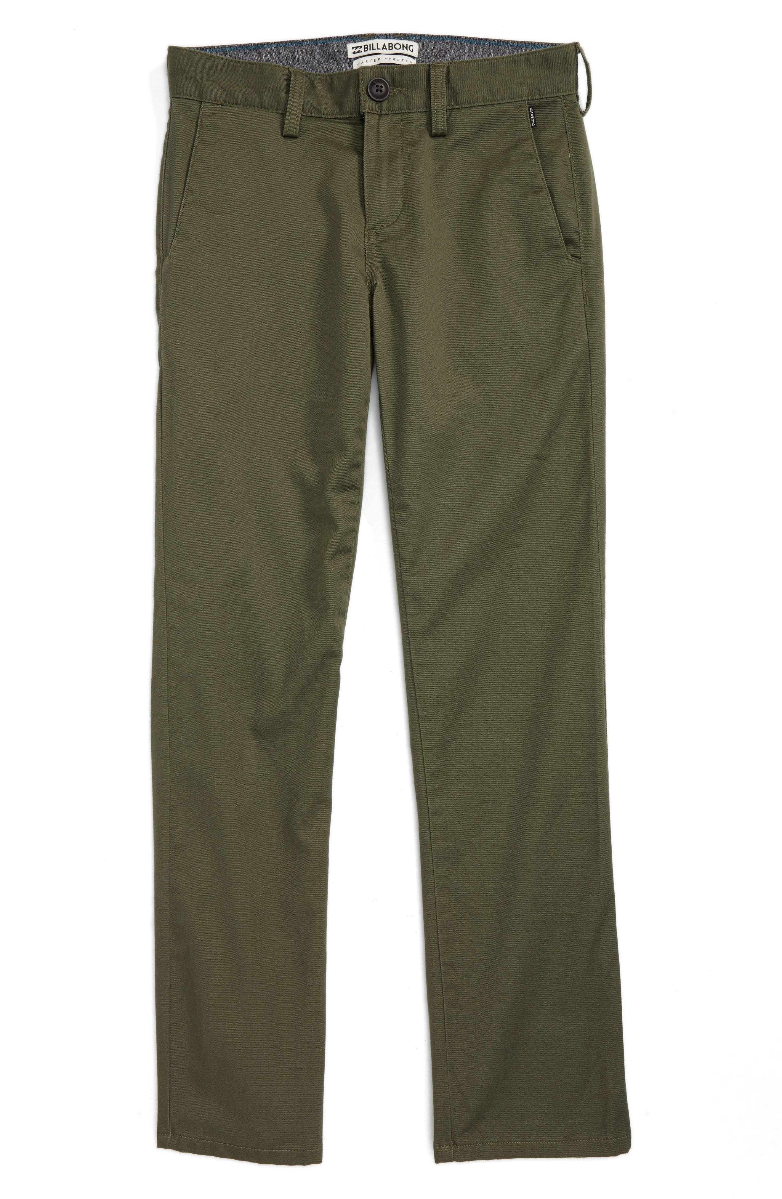 Carter Stretch Twill Chinos,                         Main,                         color, Military