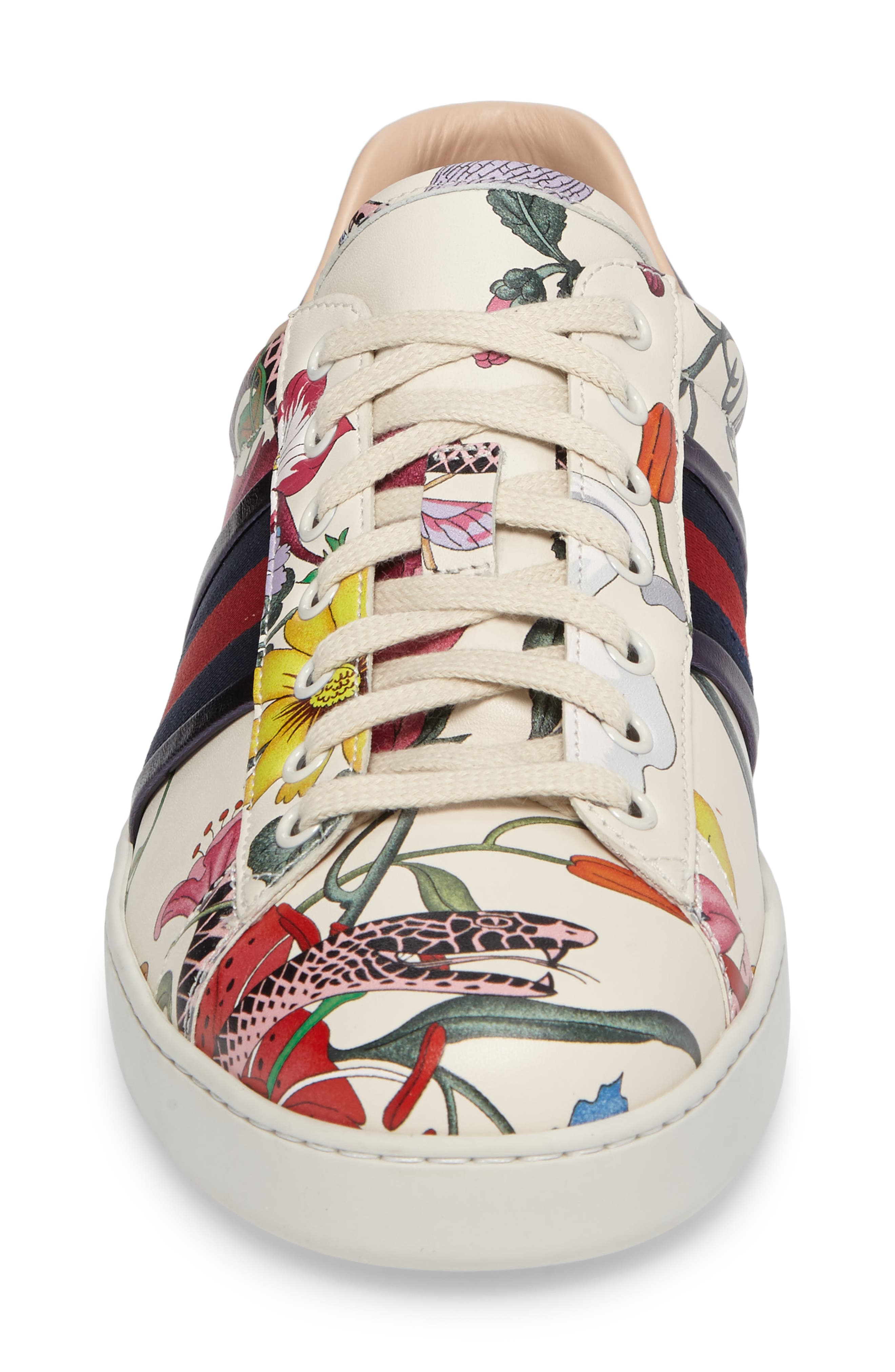 Alternate Image 4  - Gucci New Ace Floral Dino Sneaker (Men)