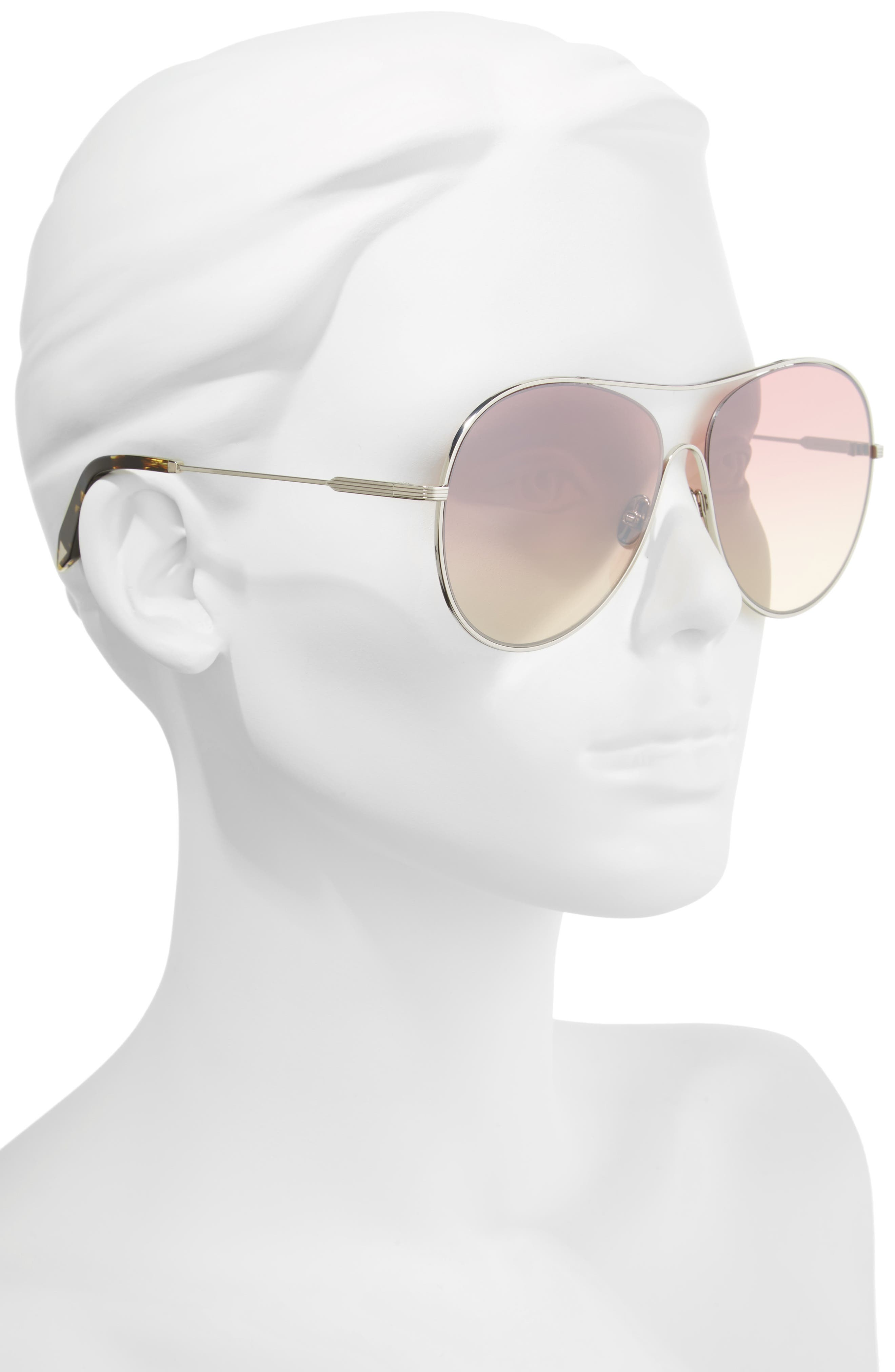 Loop 63mm Oversize Round Sunglasses,                             Alternate thumbnail 2, color,                             Luna
