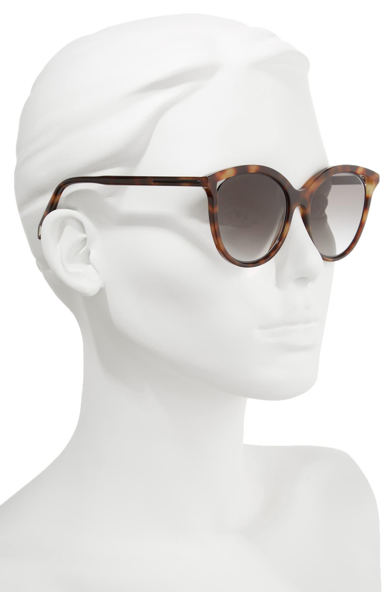 Alternate Image 2  - Victoria Beckham Cutaway Kitten 54mm Cat Eye Sunglasses