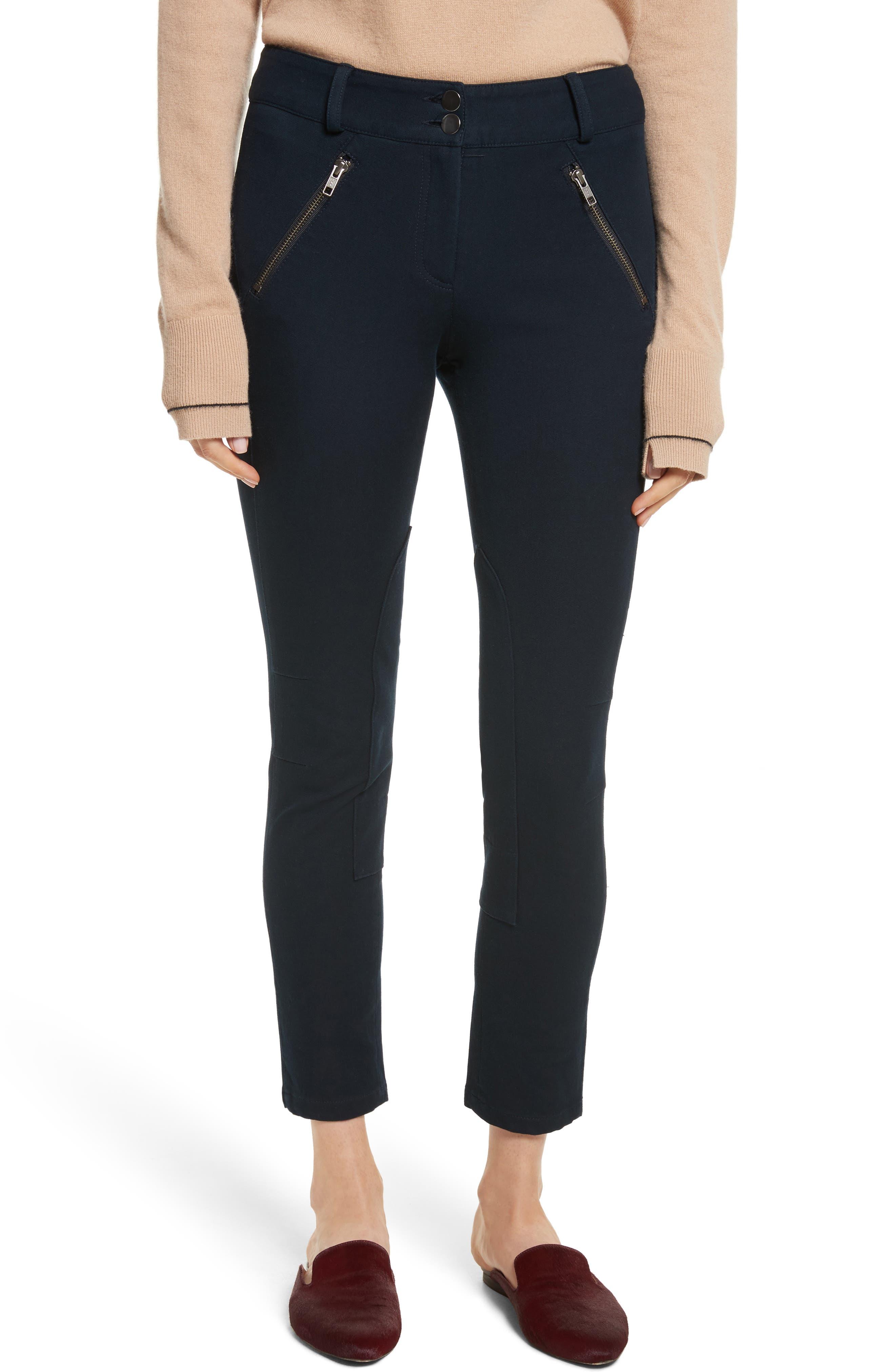 Ellie Jodhpur Pants,                         Main,                         color, Navy