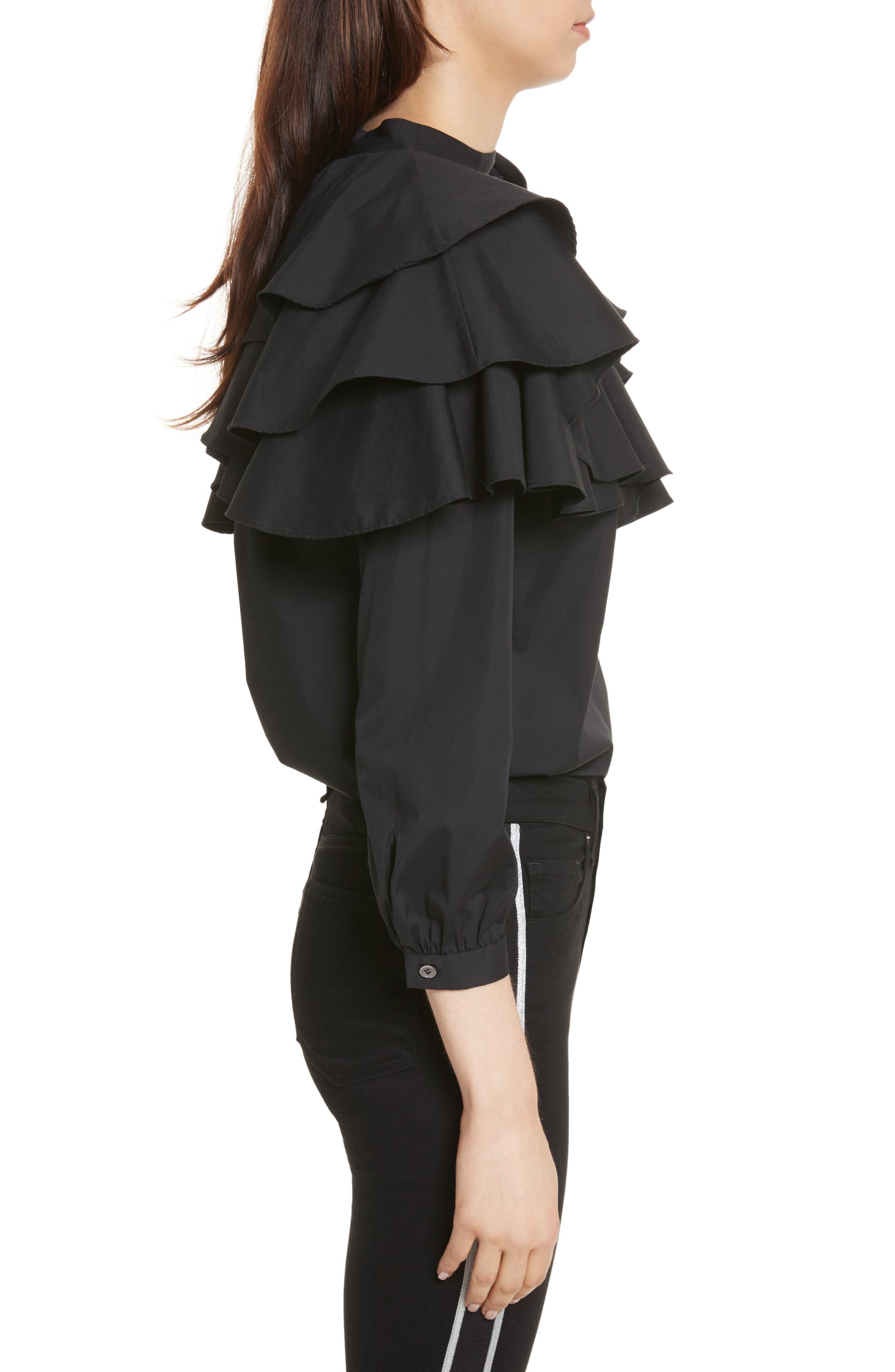 Alternate Image 5  - Veronica Beard Gigi Ruffle One-Shoulder Top