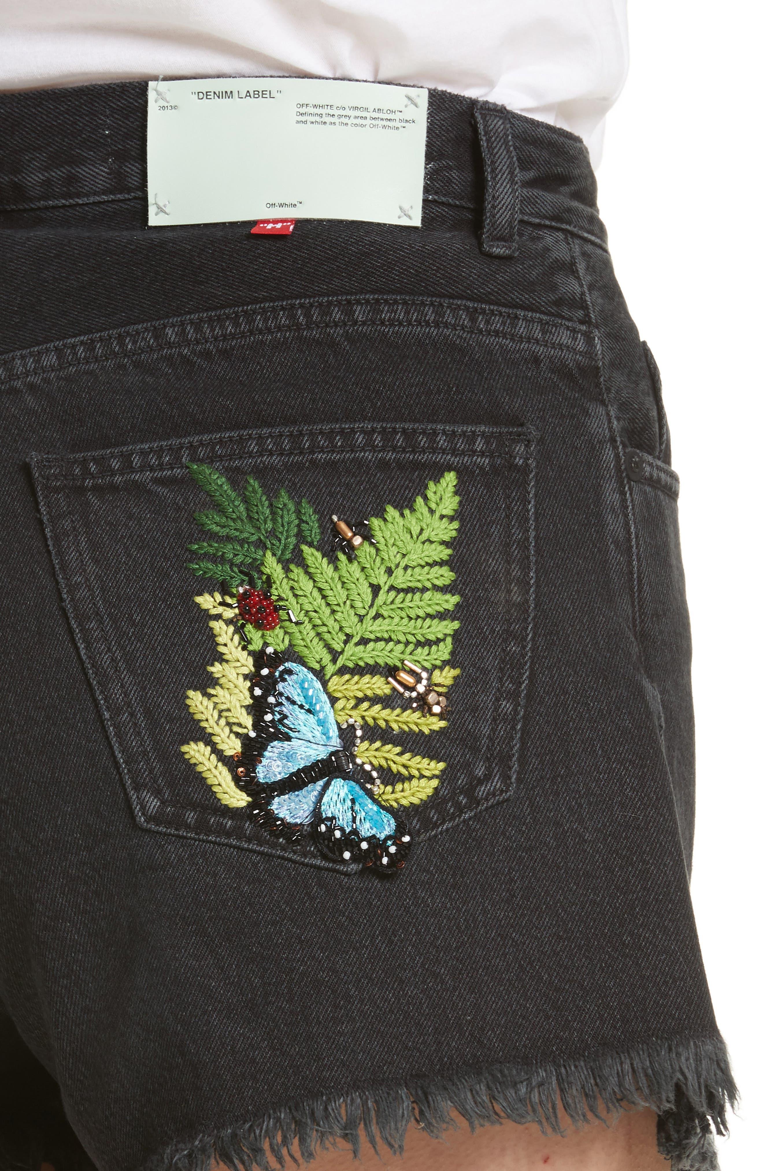 Alternate Image 5  - Off White Fern 5 Pocket Shorts