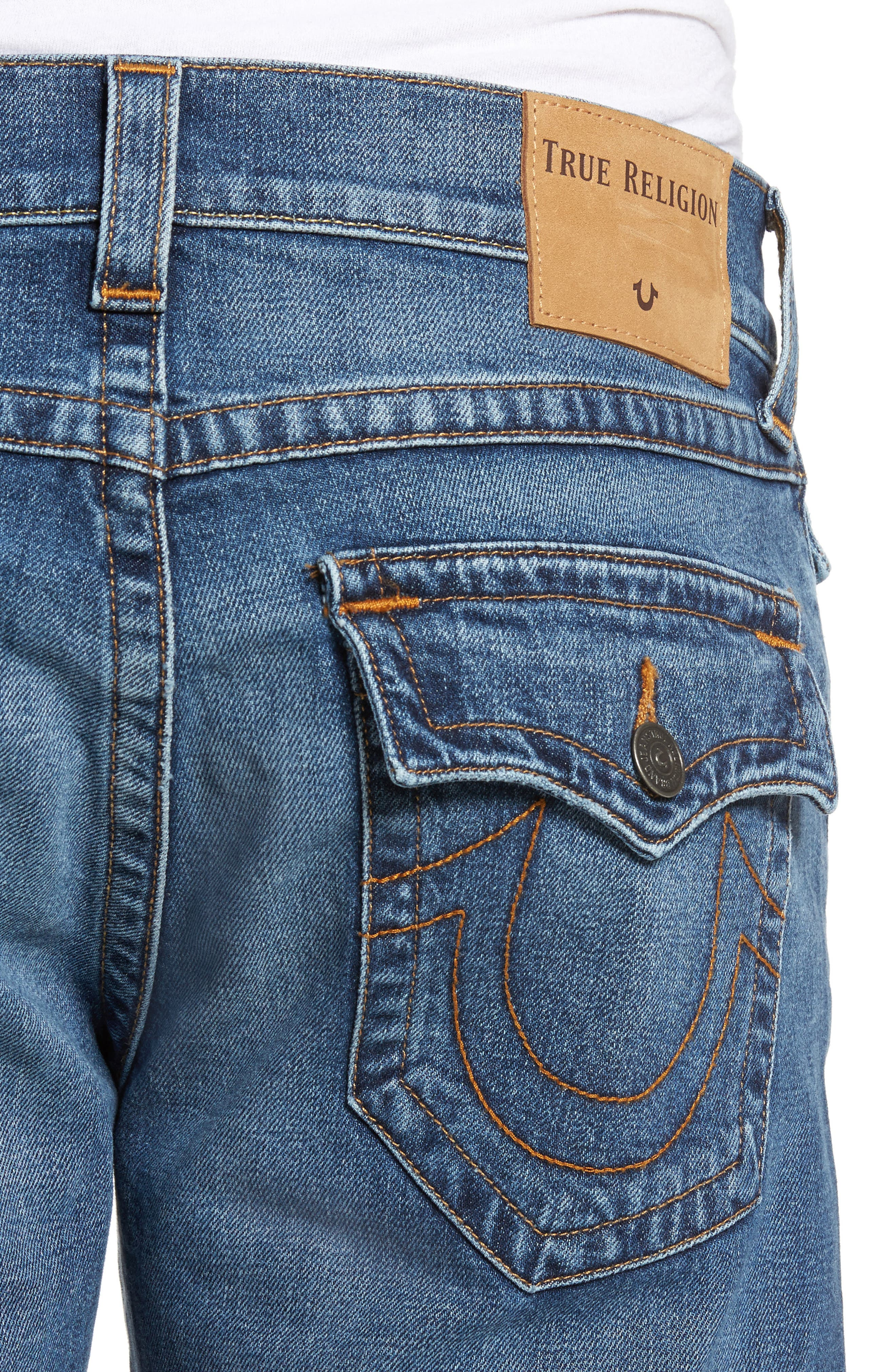 Ricky Relaxed Fit Jeans,                             Alternate thumbnail 4, color,                             Indigo Traveler