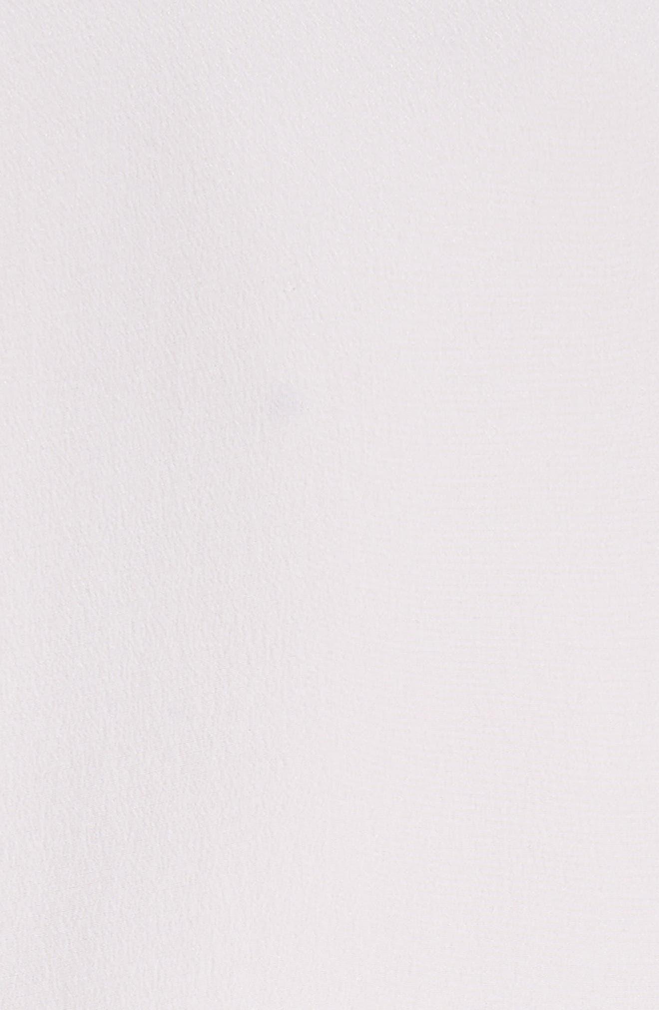 Frida Silk Tuxedo Blouse,                             Alternate thumbnail 6, color,                             White
