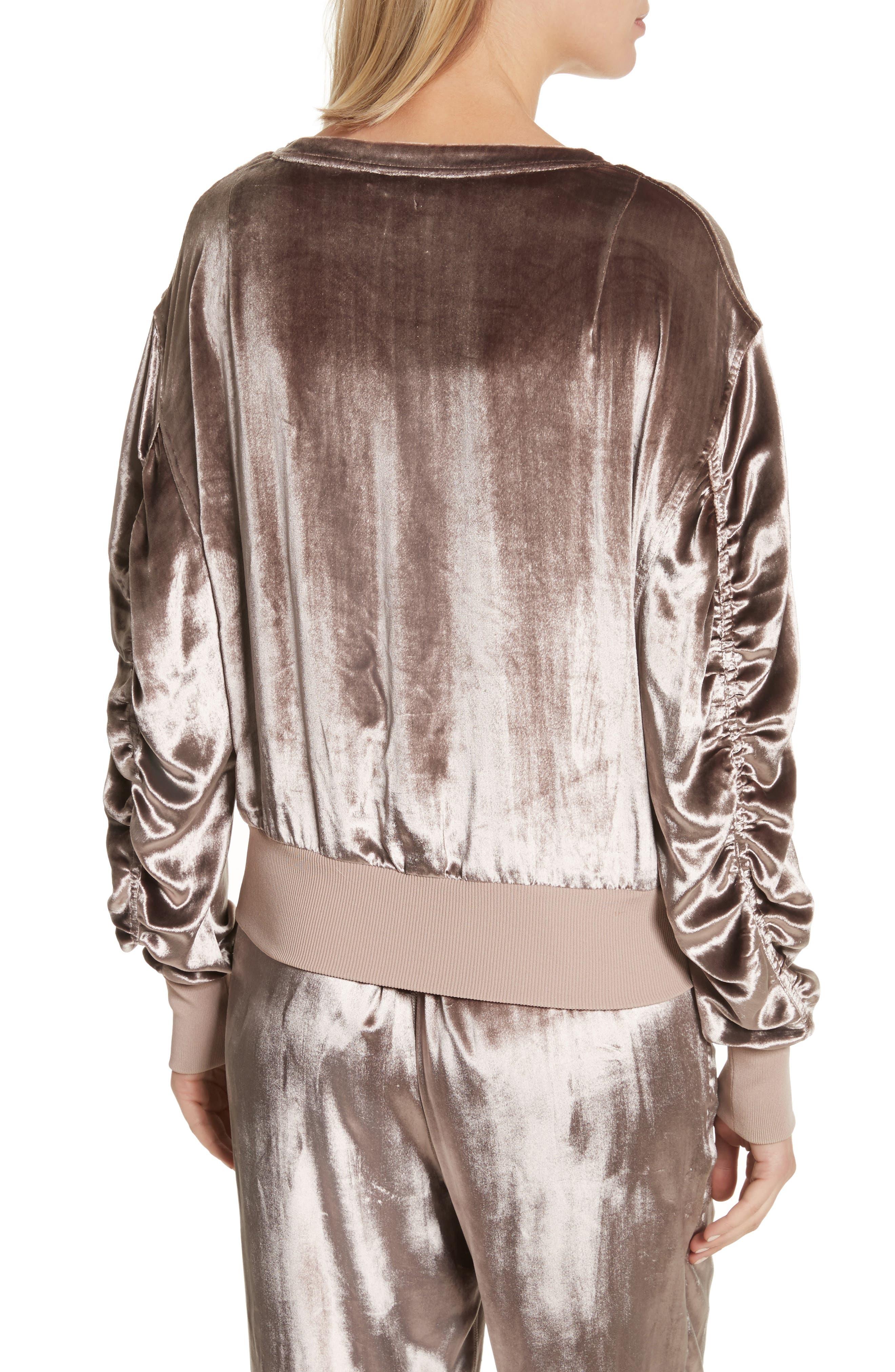 Alternate Image 3  - rag & bone Velvet Sweatshirt