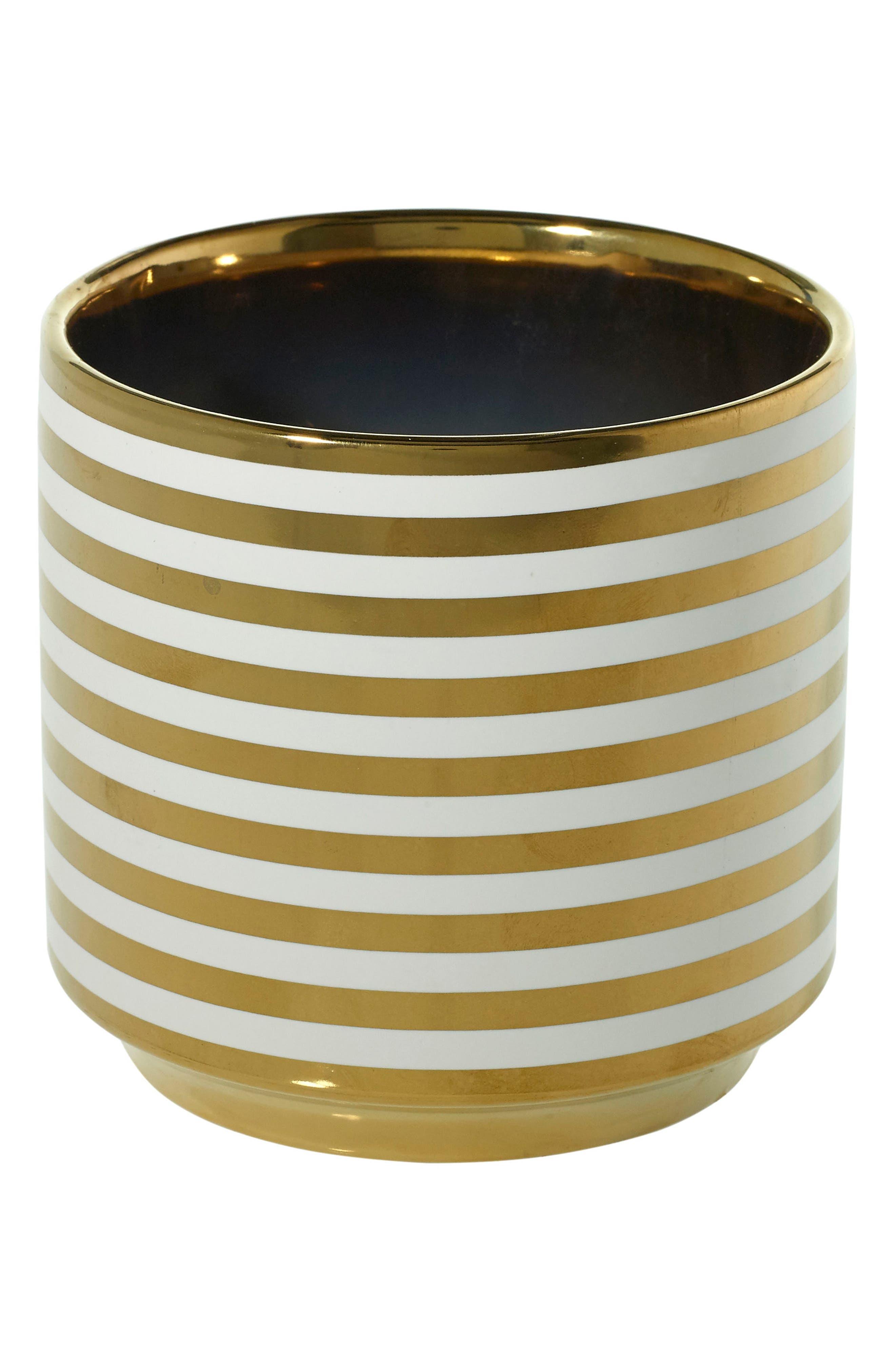 Accent Decor Gold Ceramic Vase