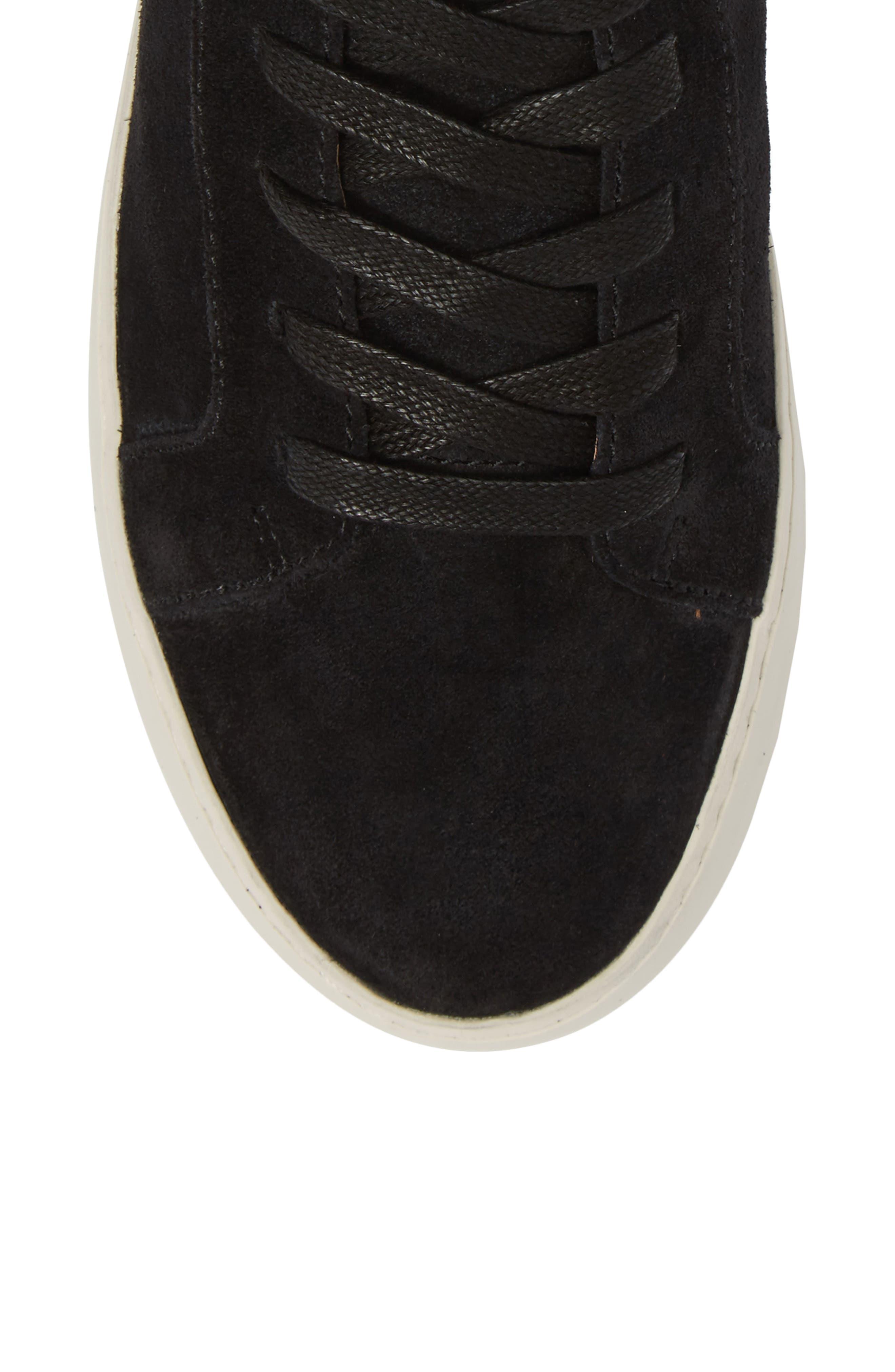 Lena Harness Sneaker,                             Alternate thumbnail 5, color,                             Black