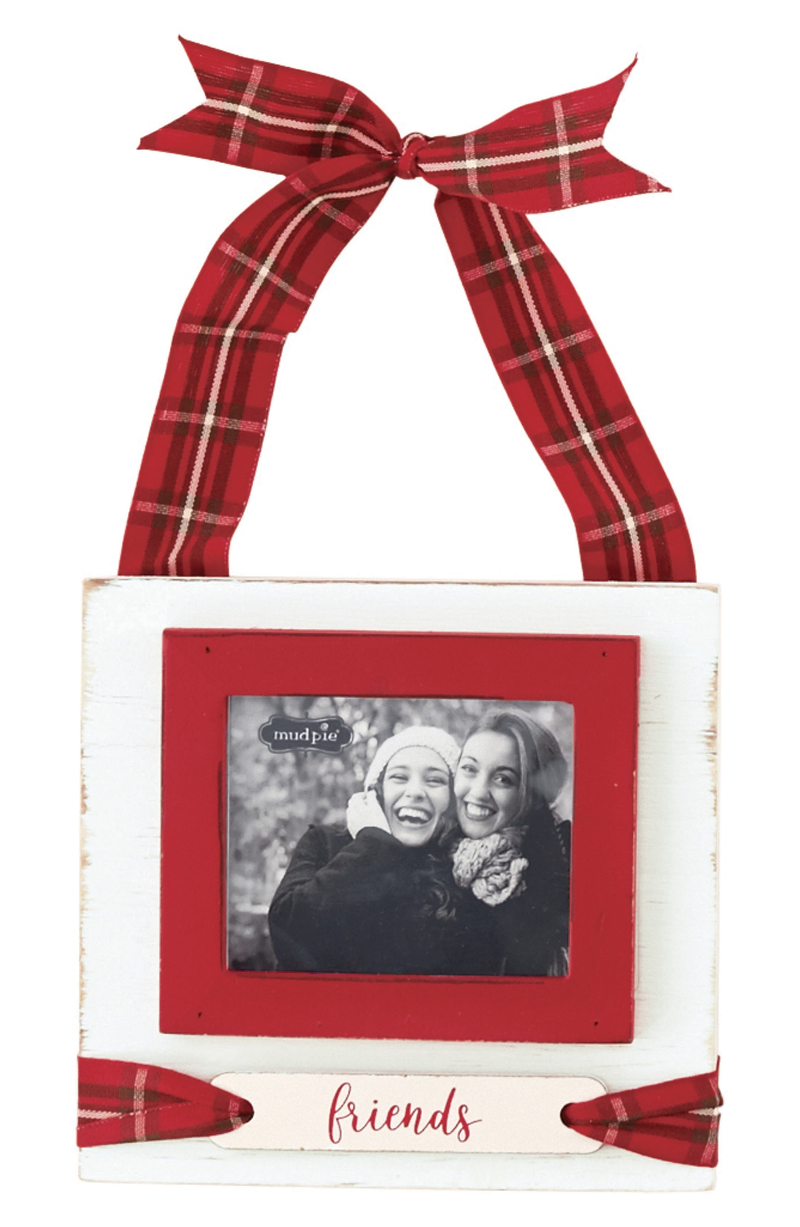 Friends Frame Ornament,                         Main,                         color, White/ Red