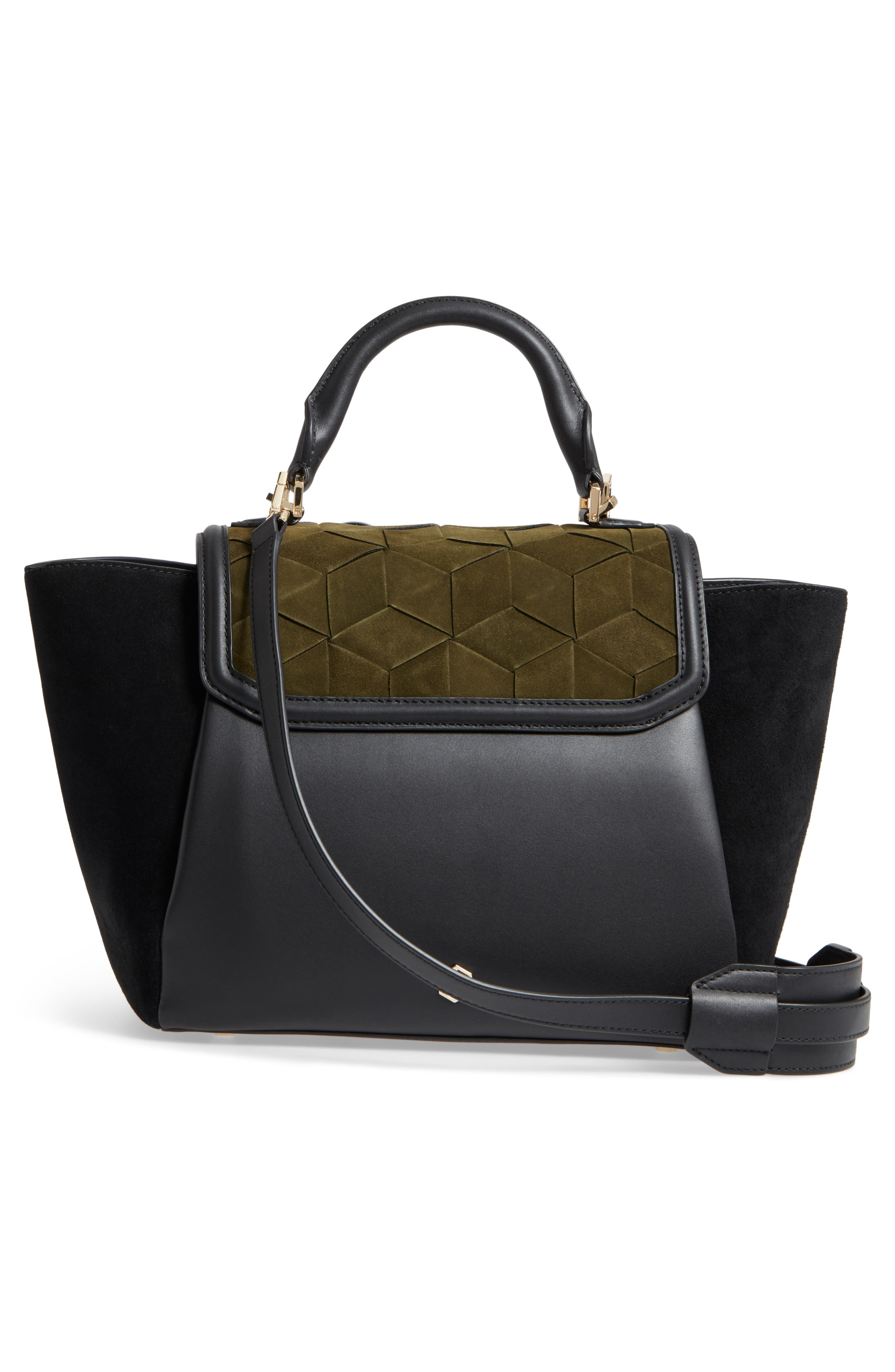 Alternate Image 3  - WELDEN Saunter Colorblocked Leather & Suede Top Handle Satchel
