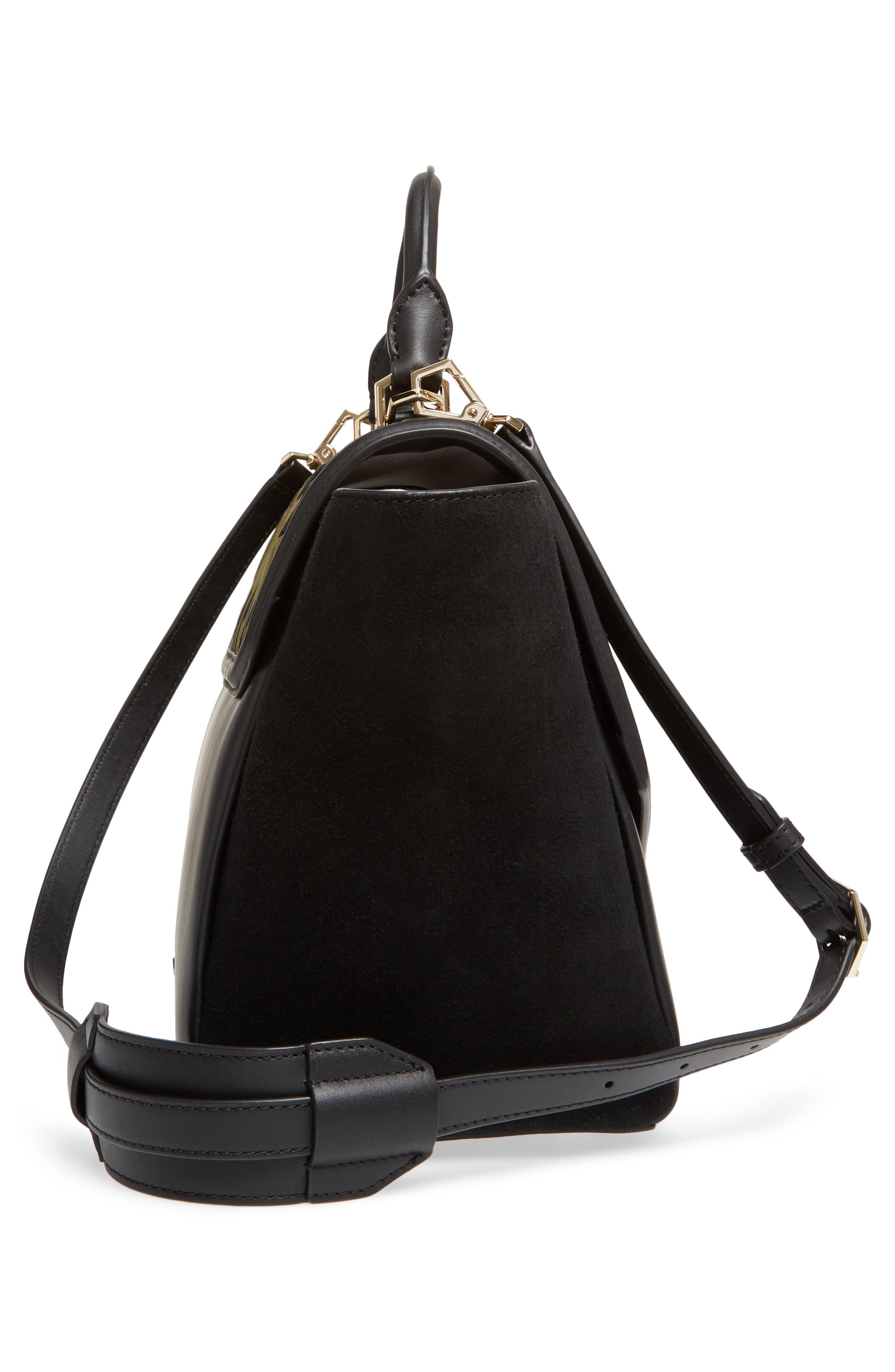 Alternate Image 4  - WELDEN Saunter Colorblocked Leather & Suede Top Handle Satchel