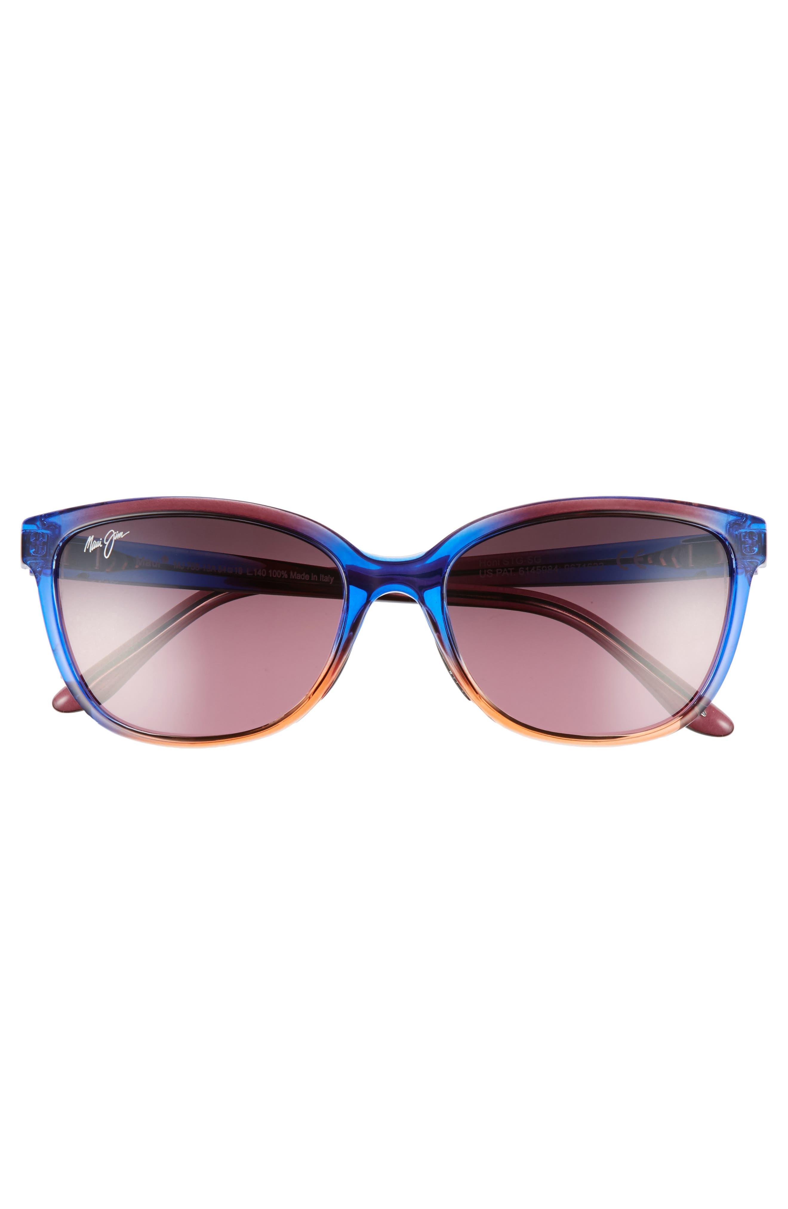 Honi 54mm Polarized Cat Eye Sunglasses,                             Alternate thumbnail 3, color,                             Sunset/ Maui Rose