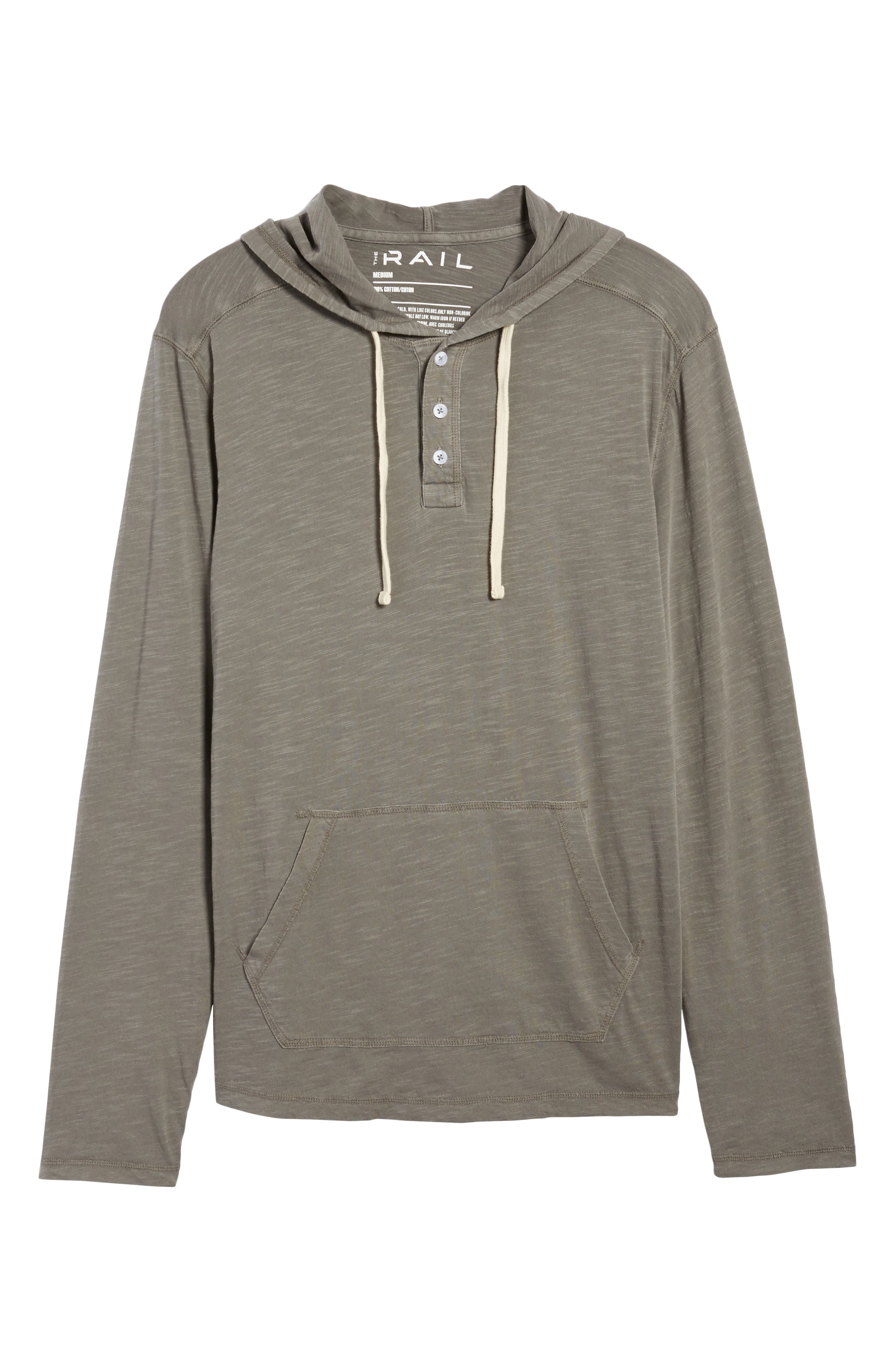 Henley Hoodie,                             Alternate thumbnail 7, color,                             Grey Charcoal