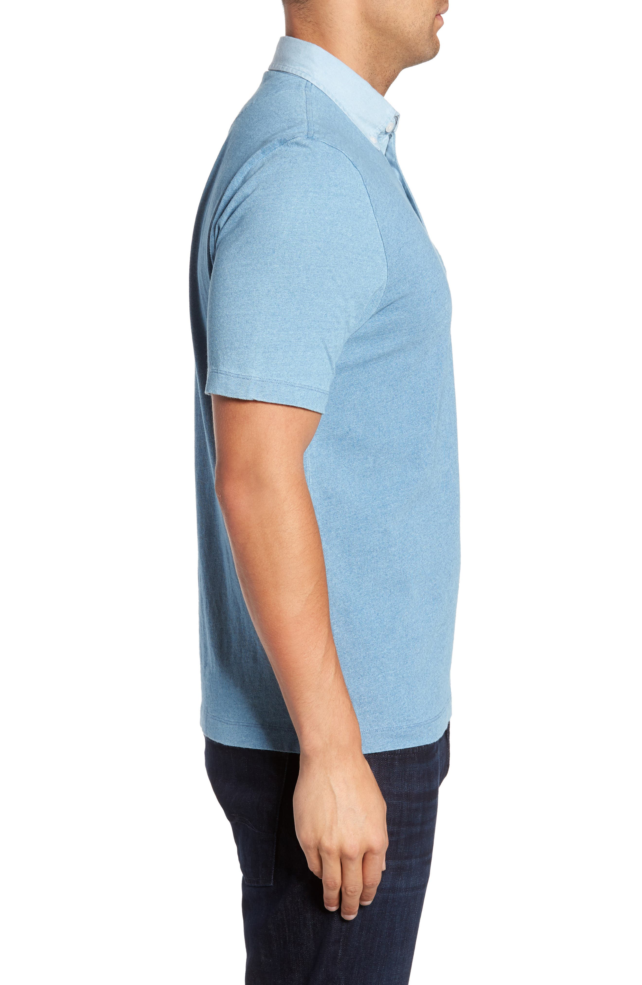 Alternate Image 3  - Thomas Dean Denim Trim Jersey Polo