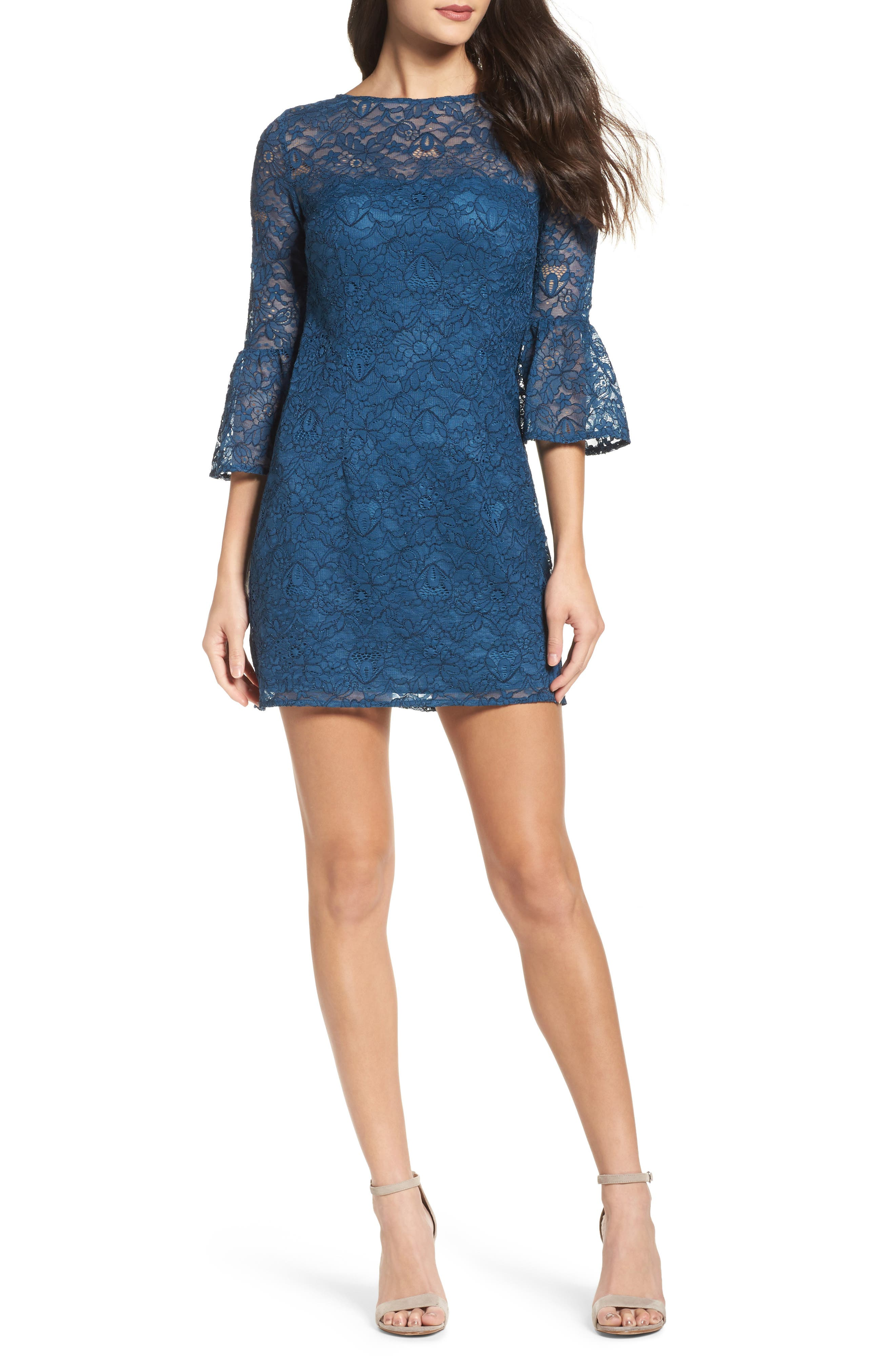 Main Image - BB Dakota Billie Bell Sleeve Lace Dress