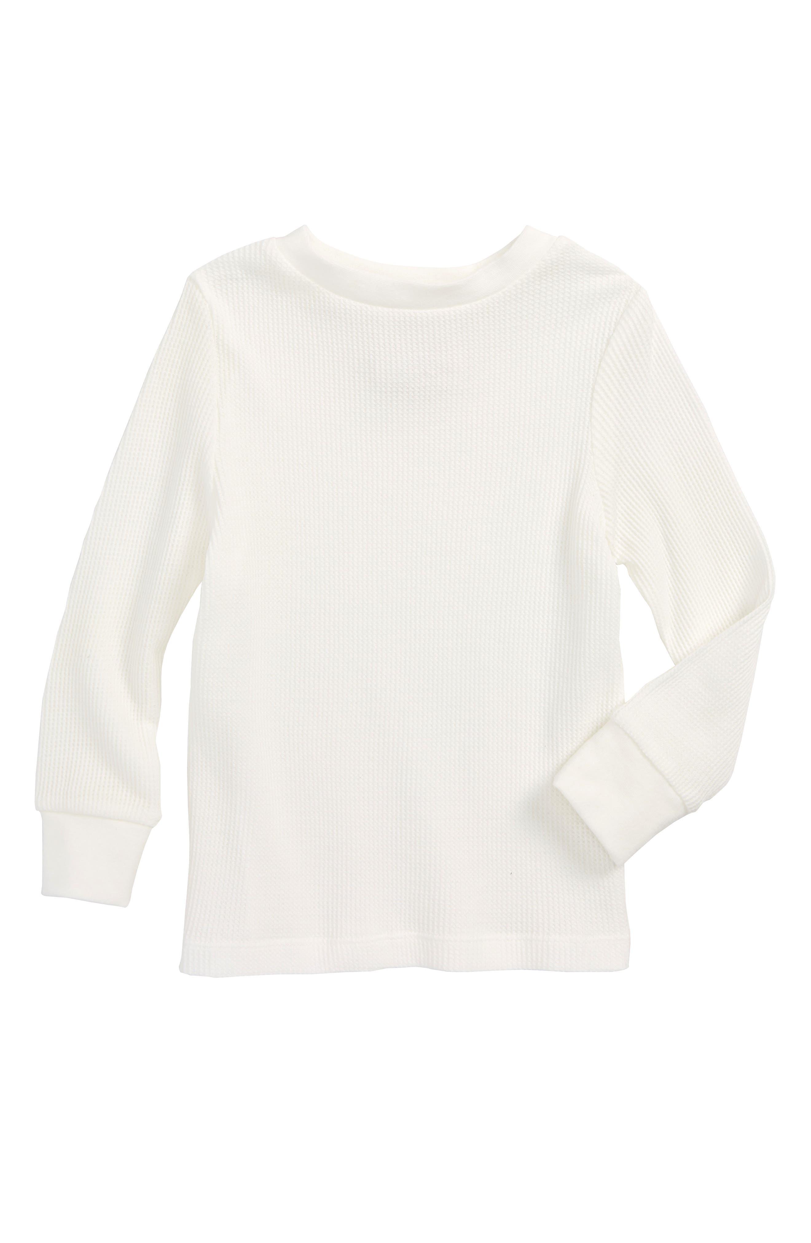 Alternate Image 1 Selected - Peek Thermal T-Shirt (Toddler Boys, Little Boys & Big Boys)