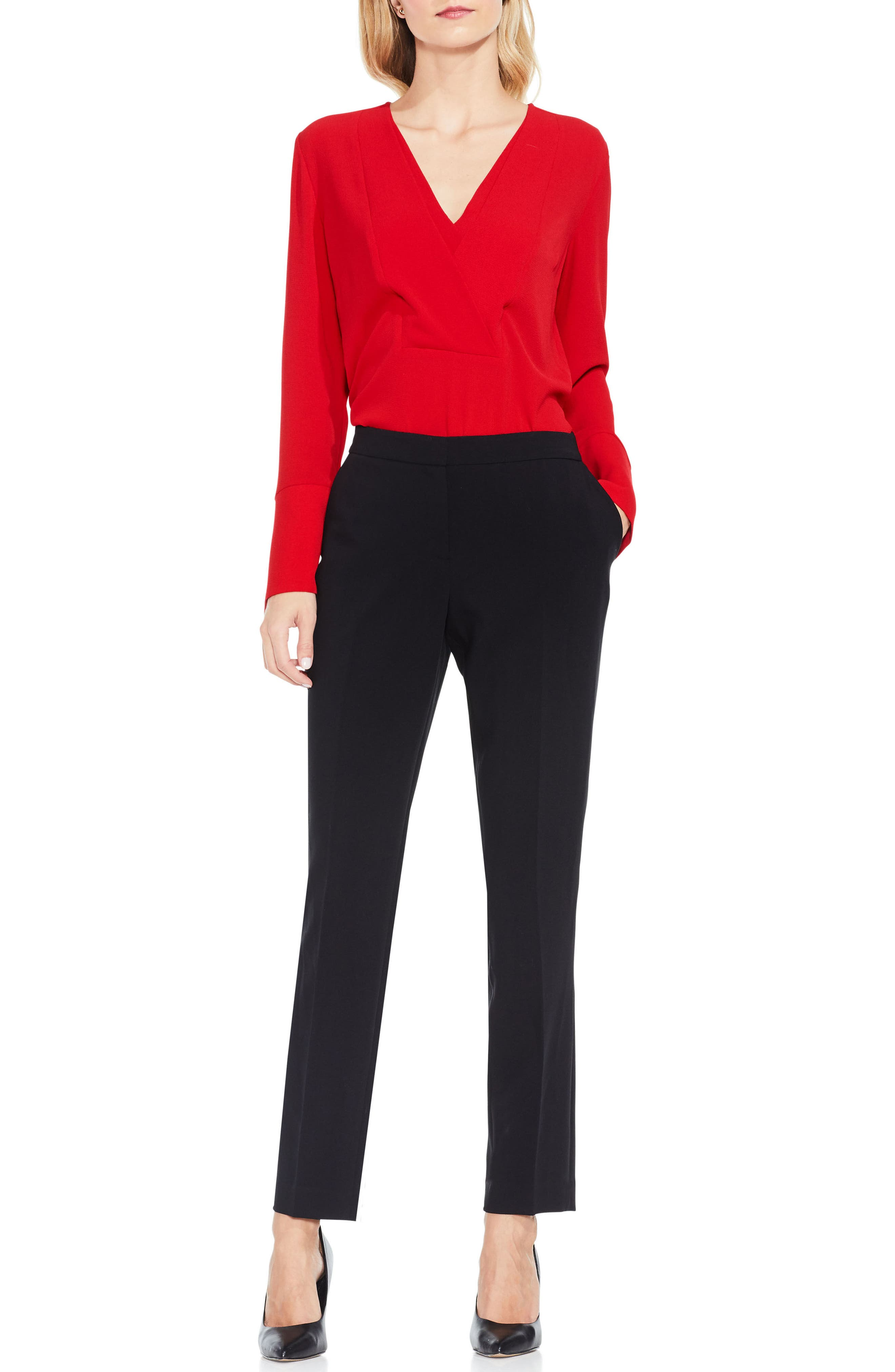 Stretch Suiting Skinny Pants,                             Alternate thumbnail 2, color,                             Rich Black