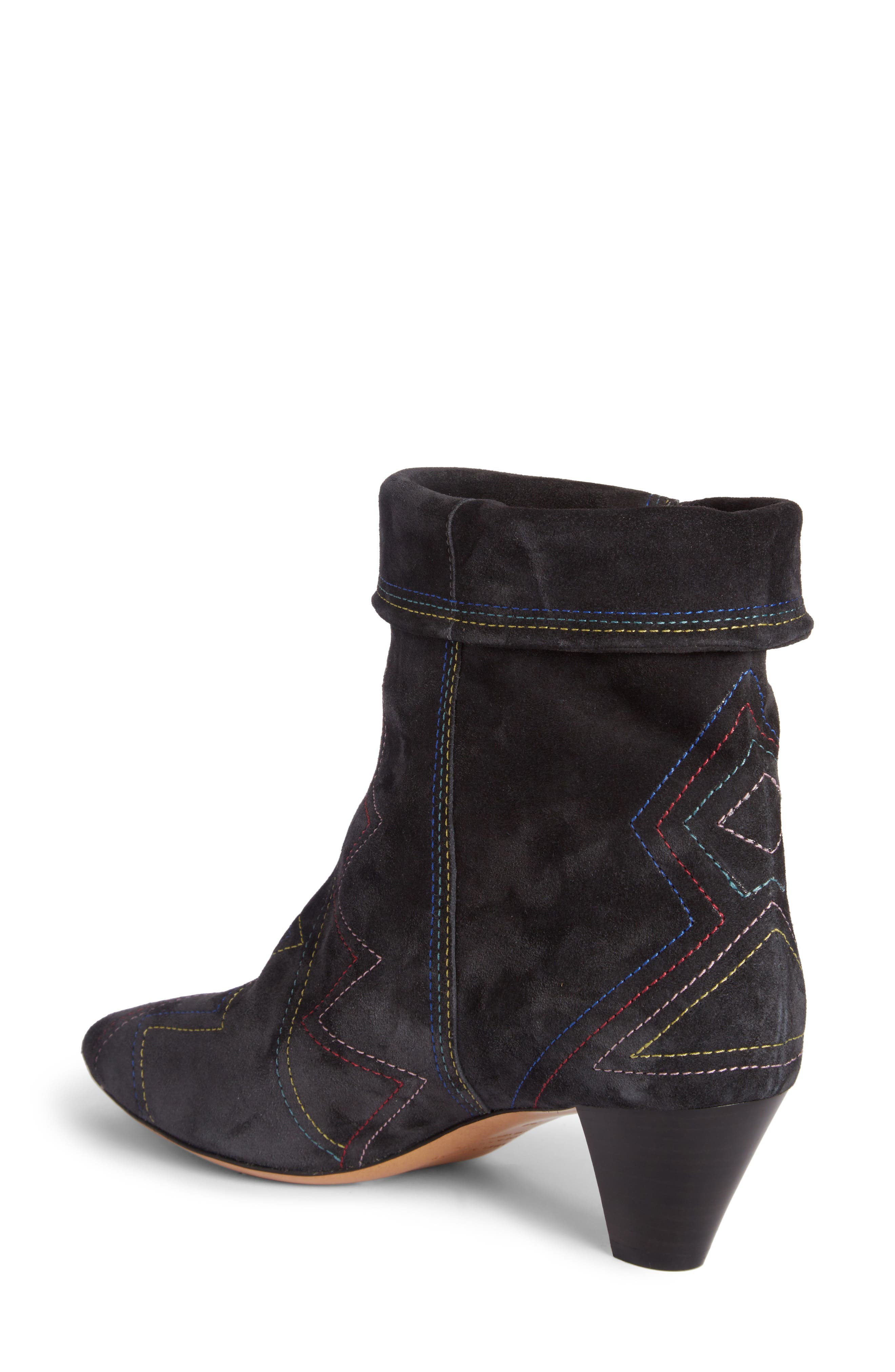 Dyna Topstitched Boot,                             Alternate thumbnail 2, color,                             Faded Black