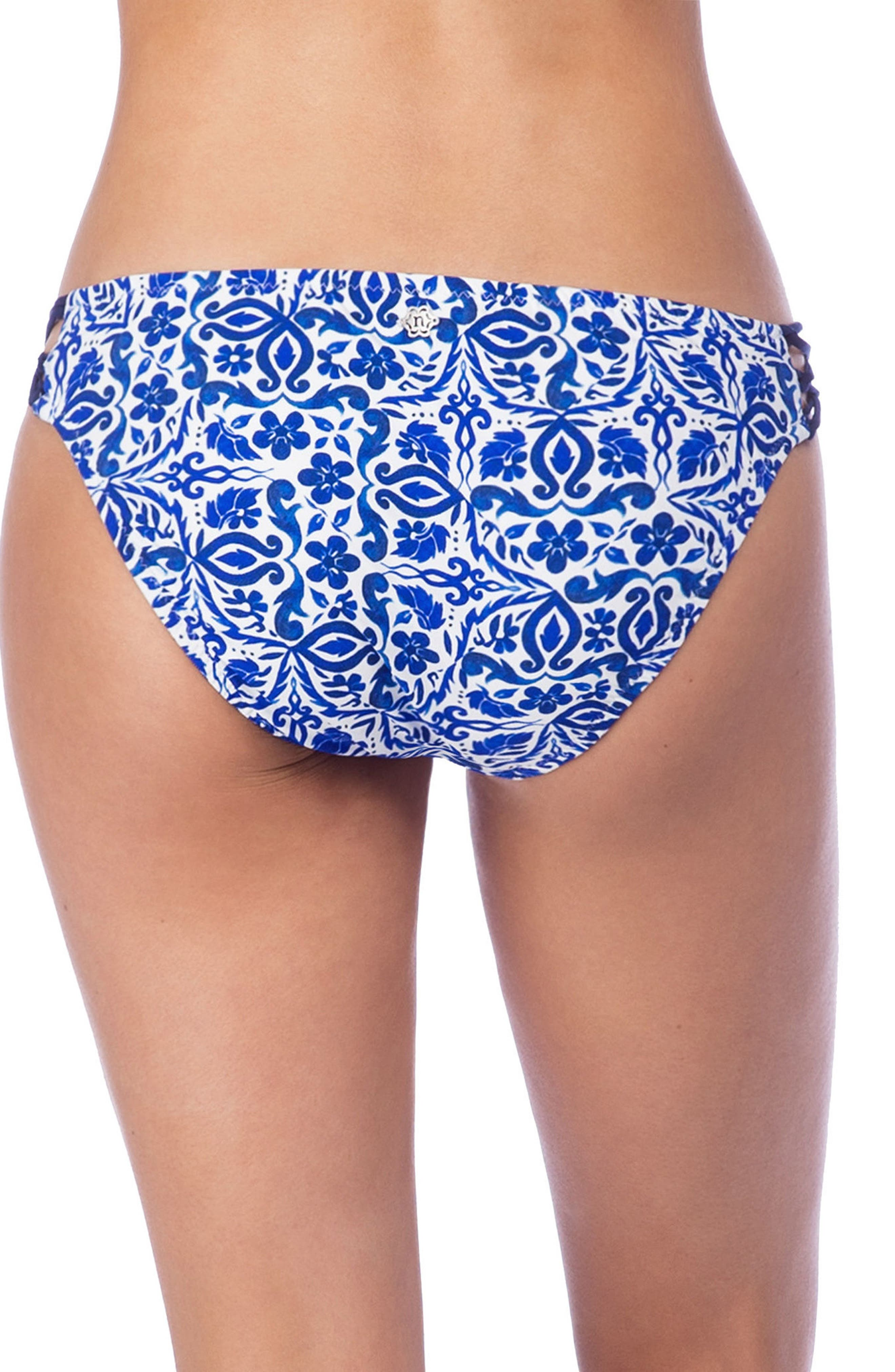 Talavera Charmer Hipster Bikini Bottoms,                             Alternate thumbnail 2, color,                             Azure