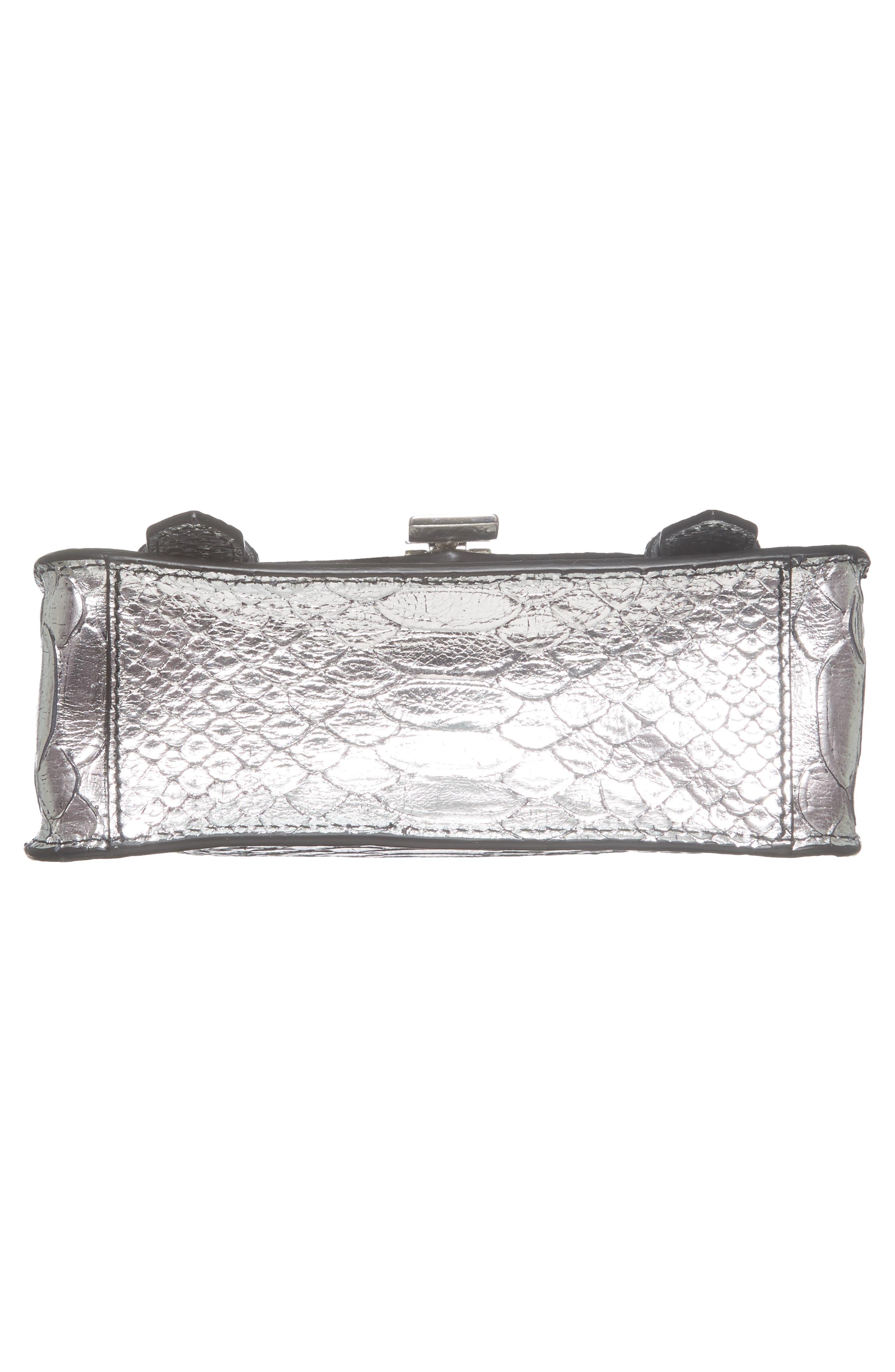 Alternate Image 5  - Proenza Schouler Mini PS1 Snakeskin Embossed Metallic Leather Crossbody Bag