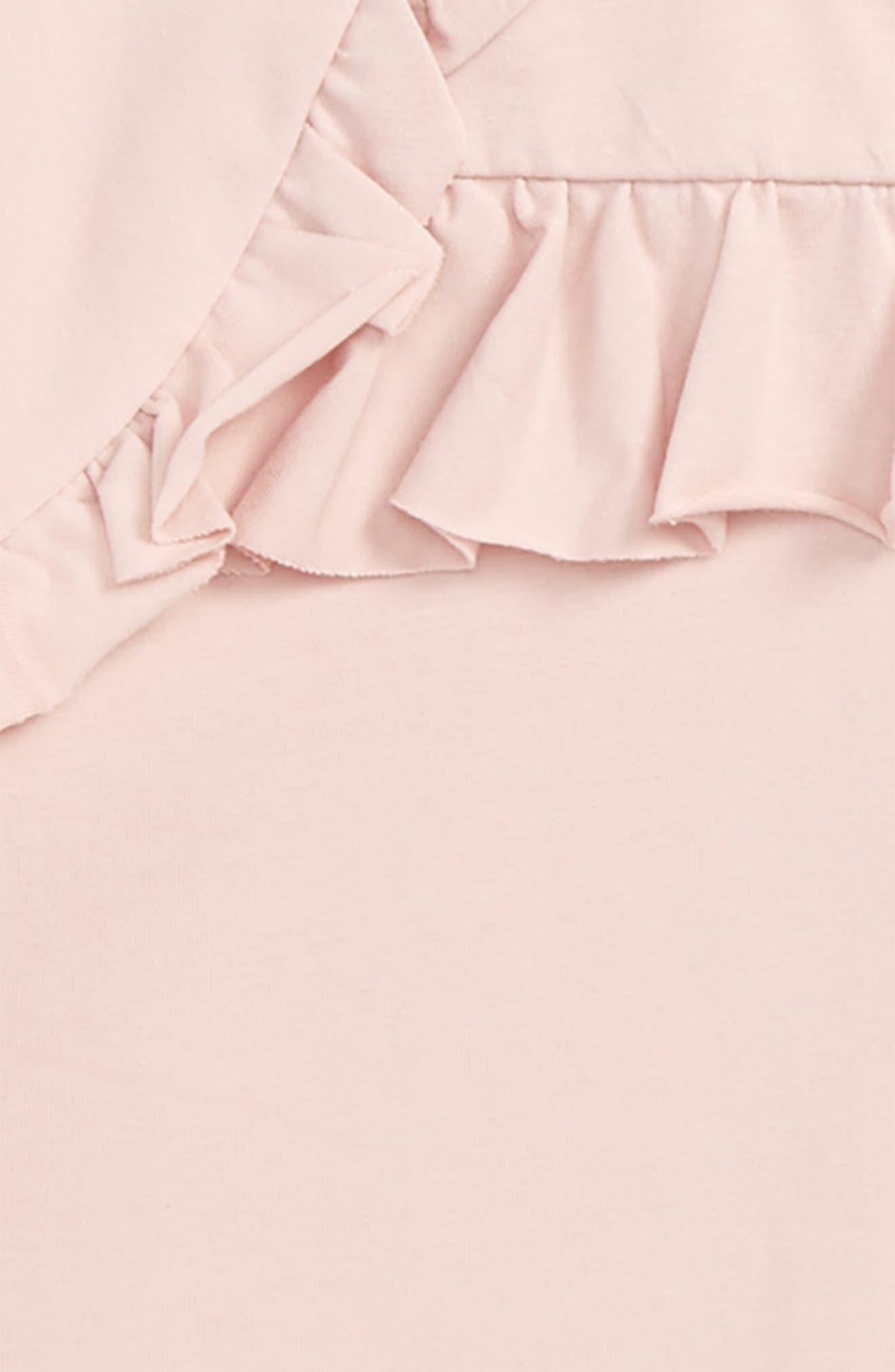 Ruffle Trim Tee,                             Alternate thumbnail 2, color,                             Dark Pink