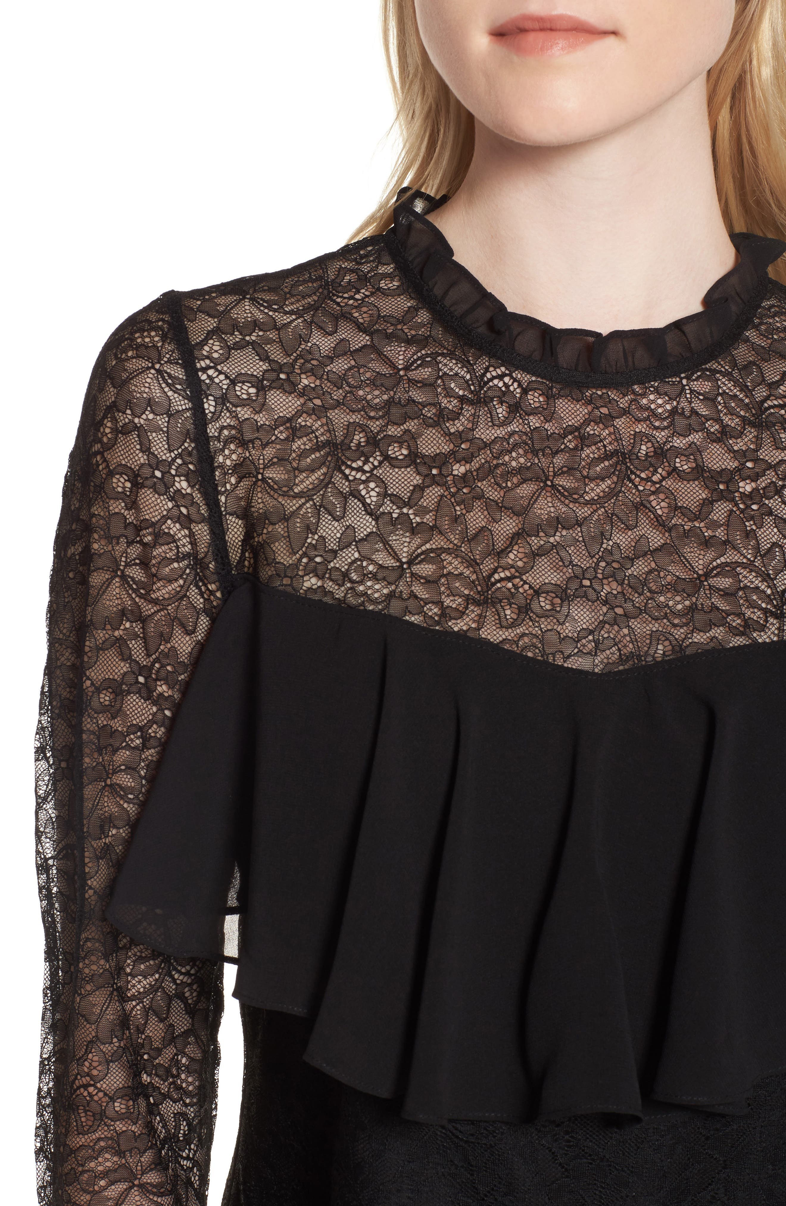 Alternate Image 5  - Chelsea28 Ruffle Lace Top