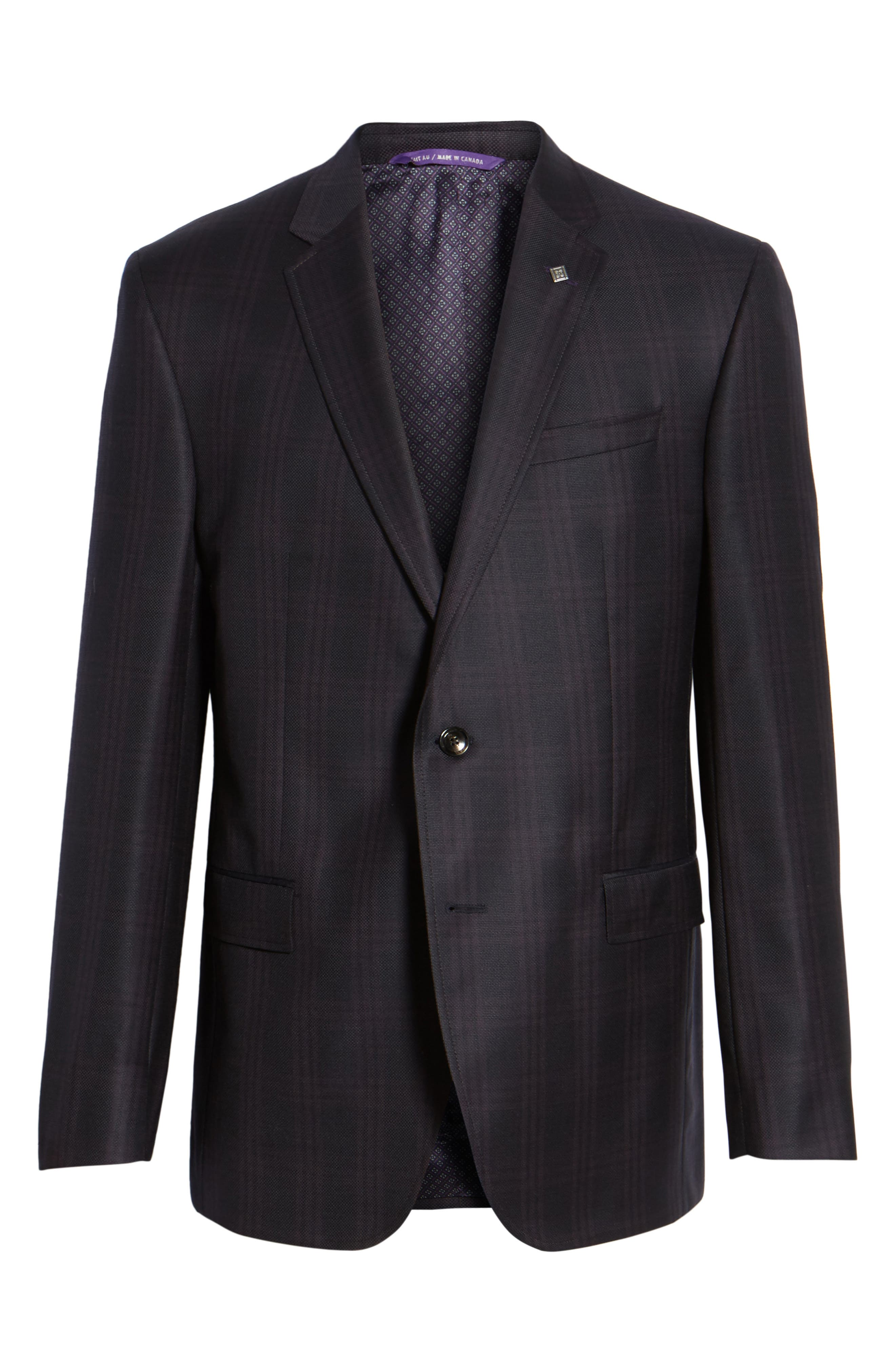 Alternate Image 6  - Ted Baker London Jed Trim Fit Plaid Wool Sport Coat