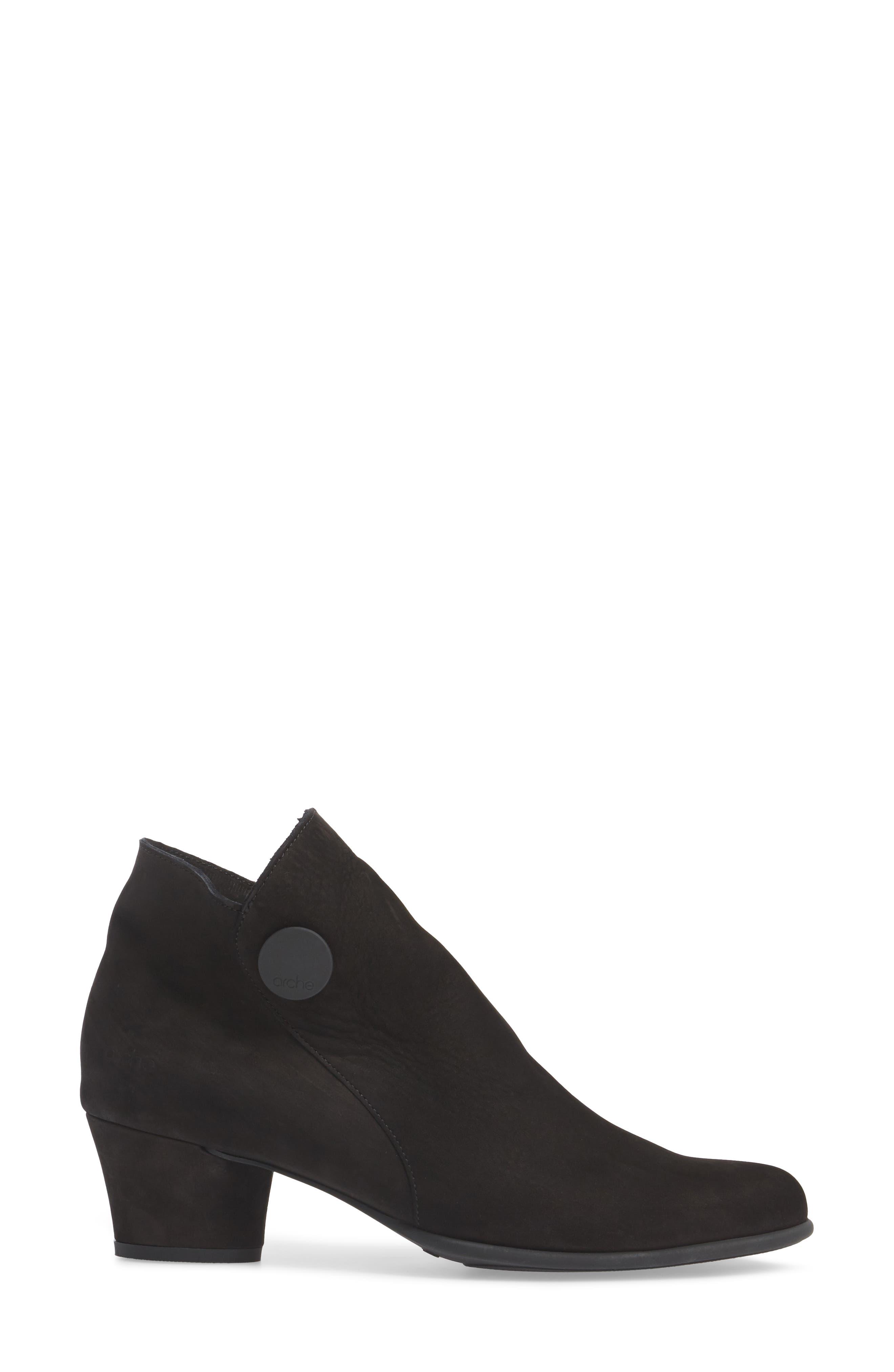 Mussem Water Resistant Bootie,                             Alternate thumbnail 3, color,                             Noir Nubuck Leather