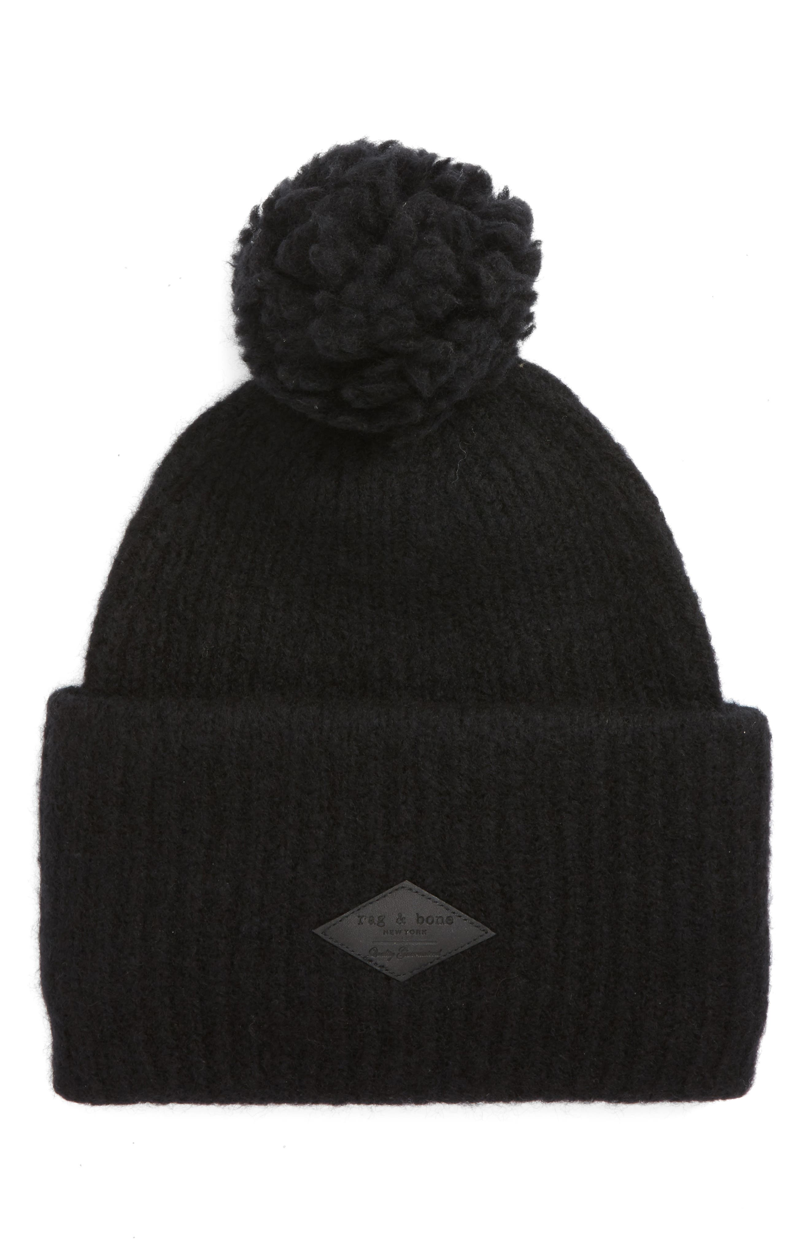 Alternate Image 1 Selected - rag & bone Francie Bouclé Knit Pom Beanie