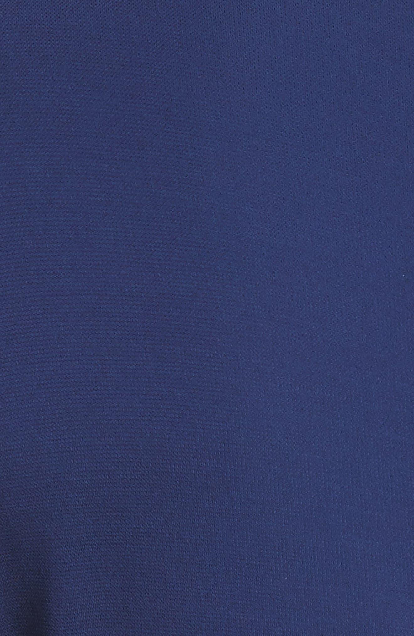 Cascade Sleeve Sheath Dress,                             Alternate thumbnail 6, color,                             Sapphire