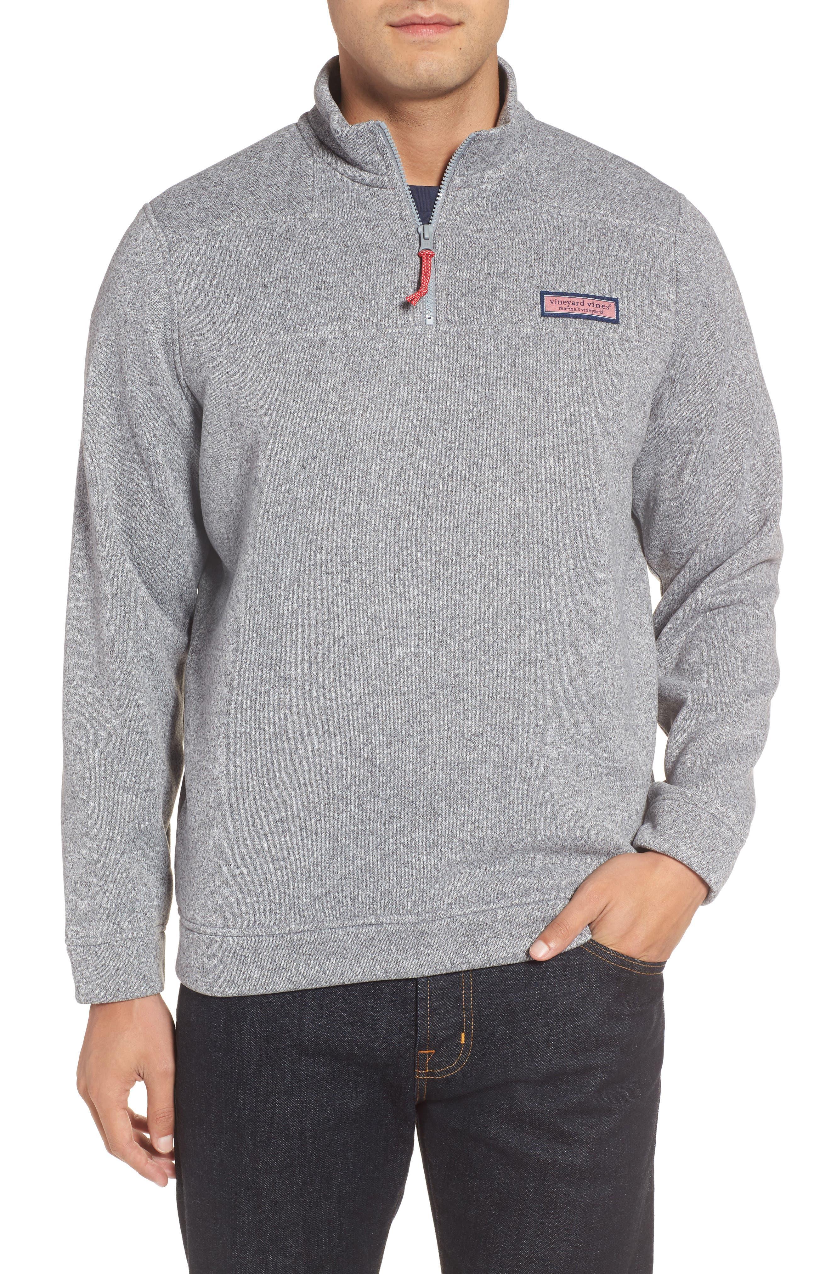 Shep Sweater Fleece Quarter Zip Pullover,                         Main,                         color, Minnow Grey