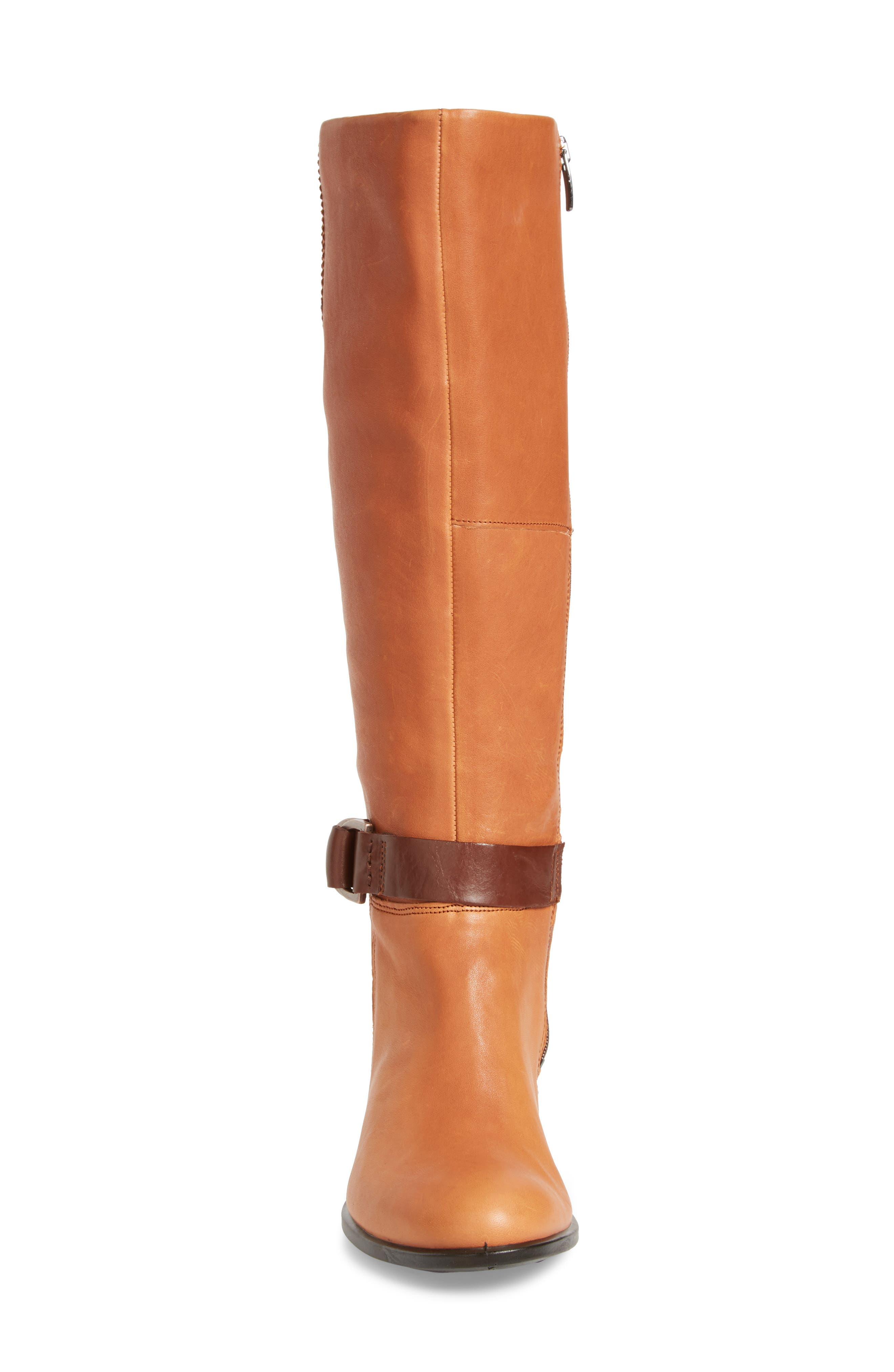 Shape 55 Tall Boot,                             Alternate thumbnail 4, color,                             Cognac Leather