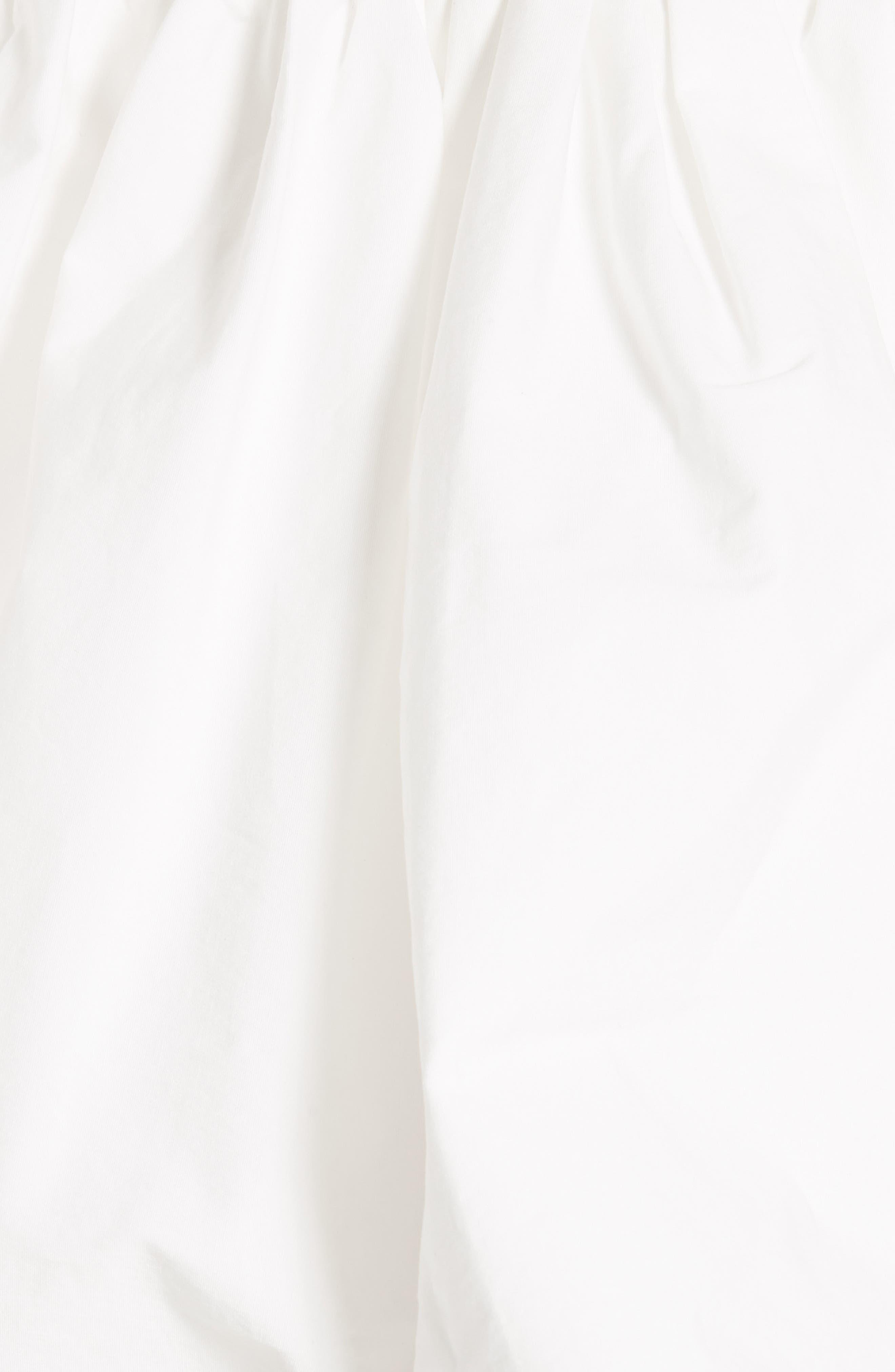 Off the Shoulder Poplin Top,                             Alternate thumbnail 6, color,                             Cotton Poplin Off-White