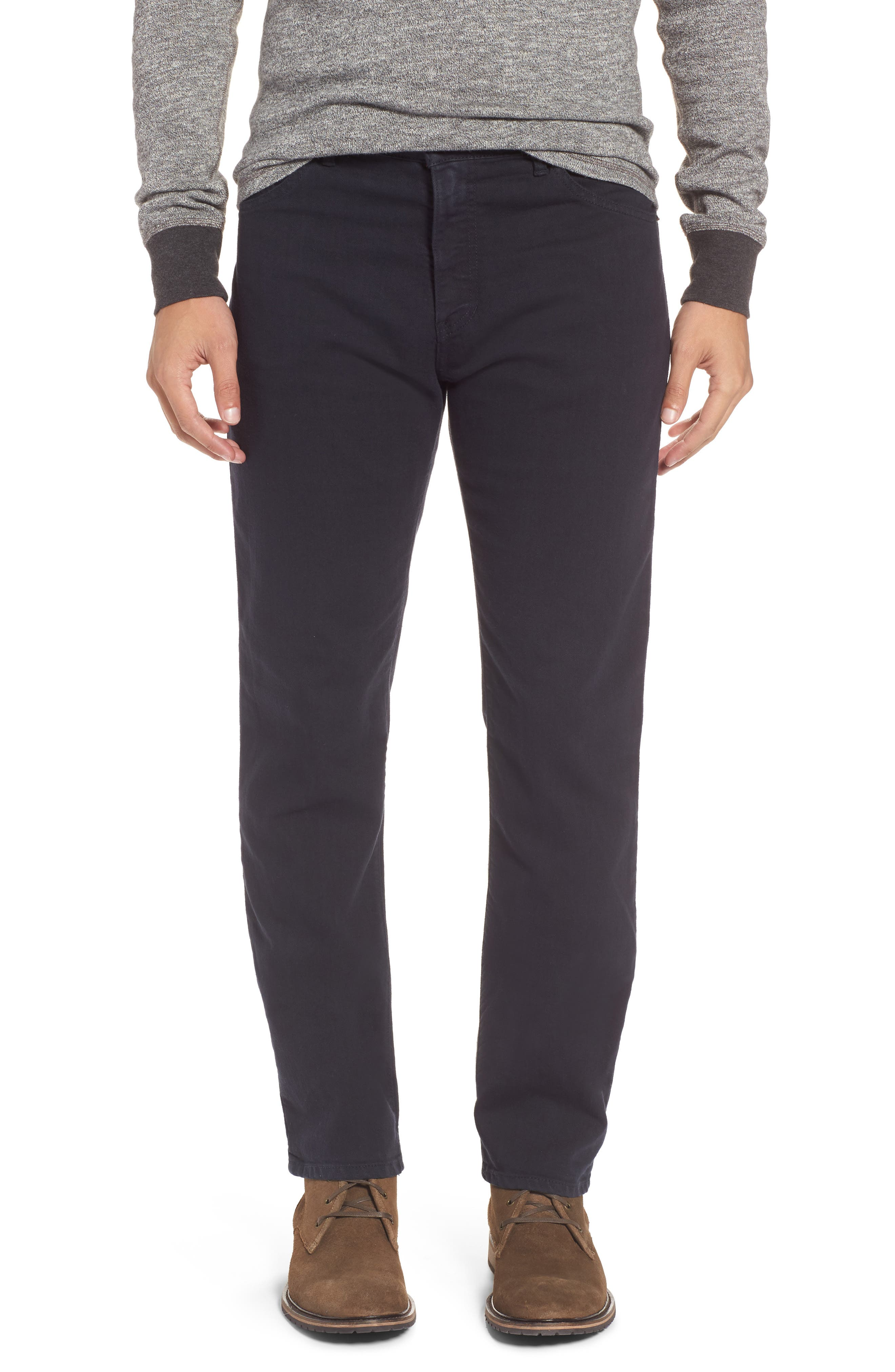 Alternate Image 1 Selected - Raleigh Denim Alexander Straight Leg Jeans (Stretch Dark Fathom)