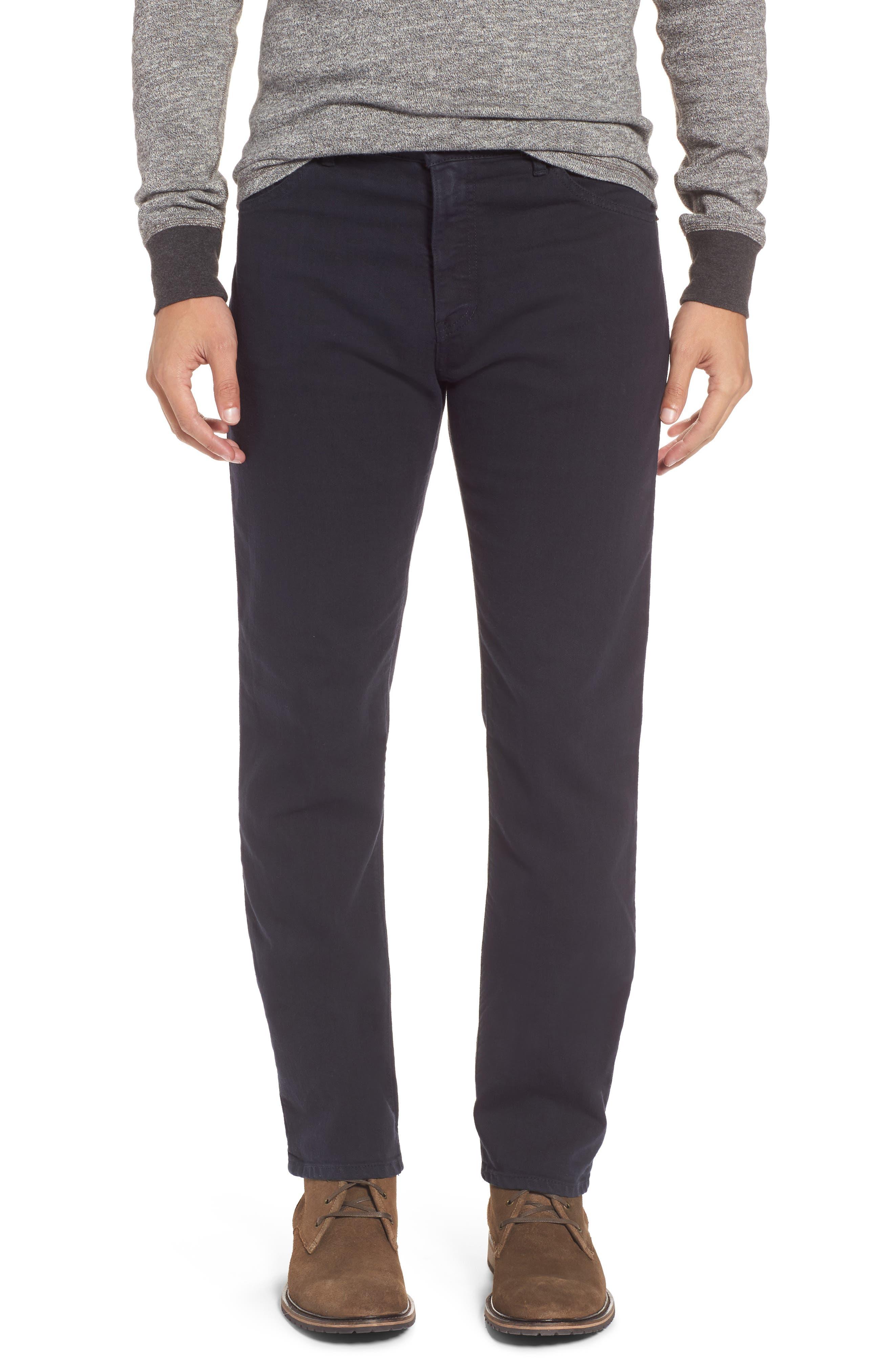 Alexander Straight Leg Jeans,                         Main,                         color, Stretch Dark Fathom