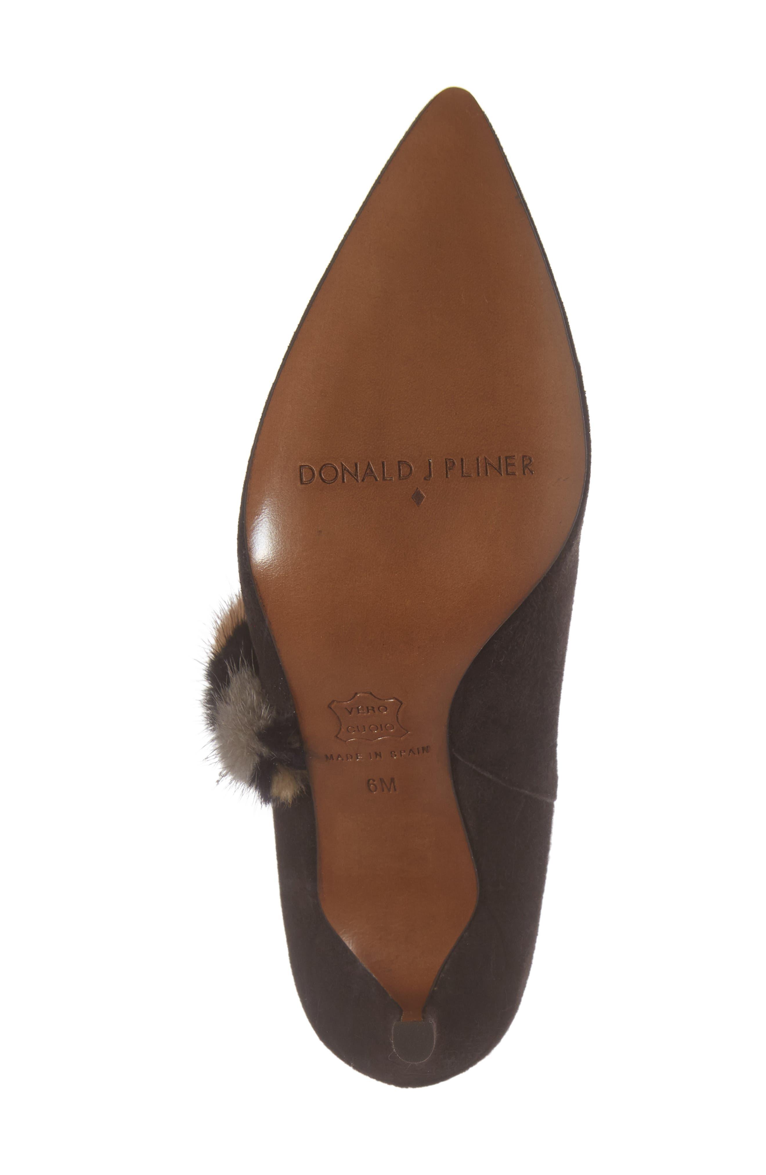 Alternate Image 6  - Donald J Pliner Renata Genuine Mink Fur Trim Bootie (Women)