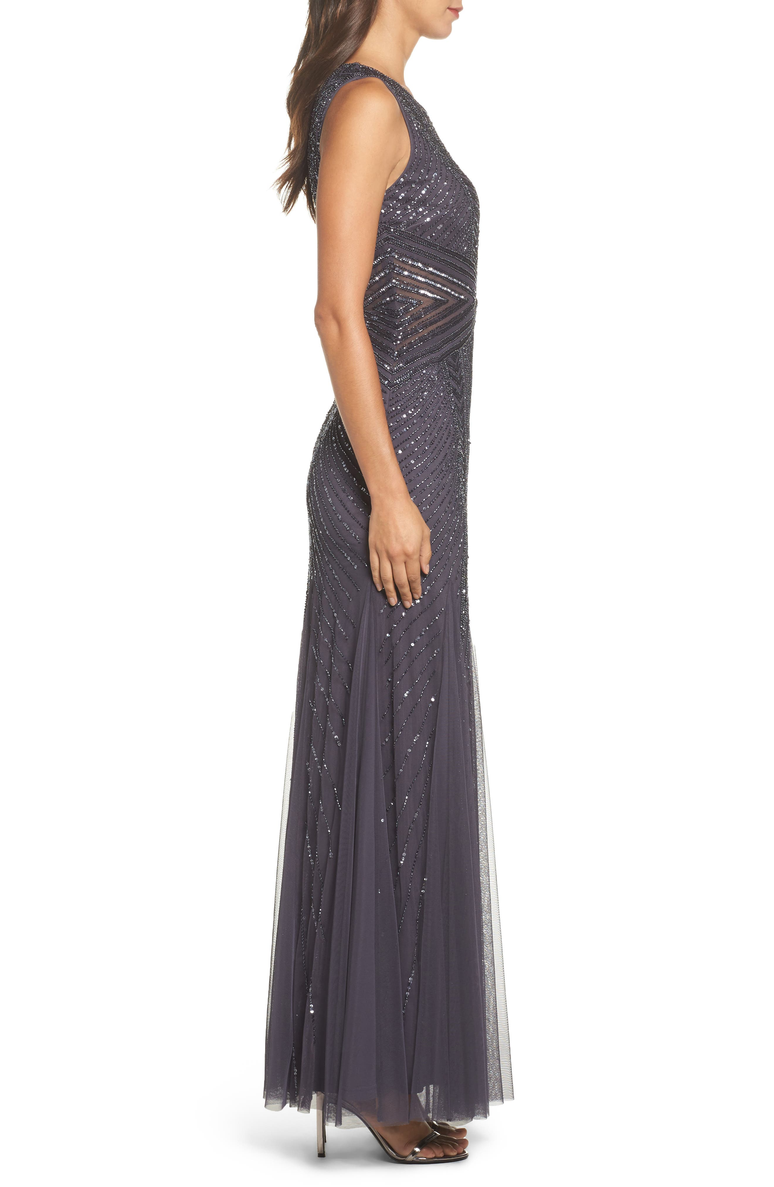 Alternate Image 3  - Adrianna Papell Beaded Sleeveless Gown (Regular & Petite)