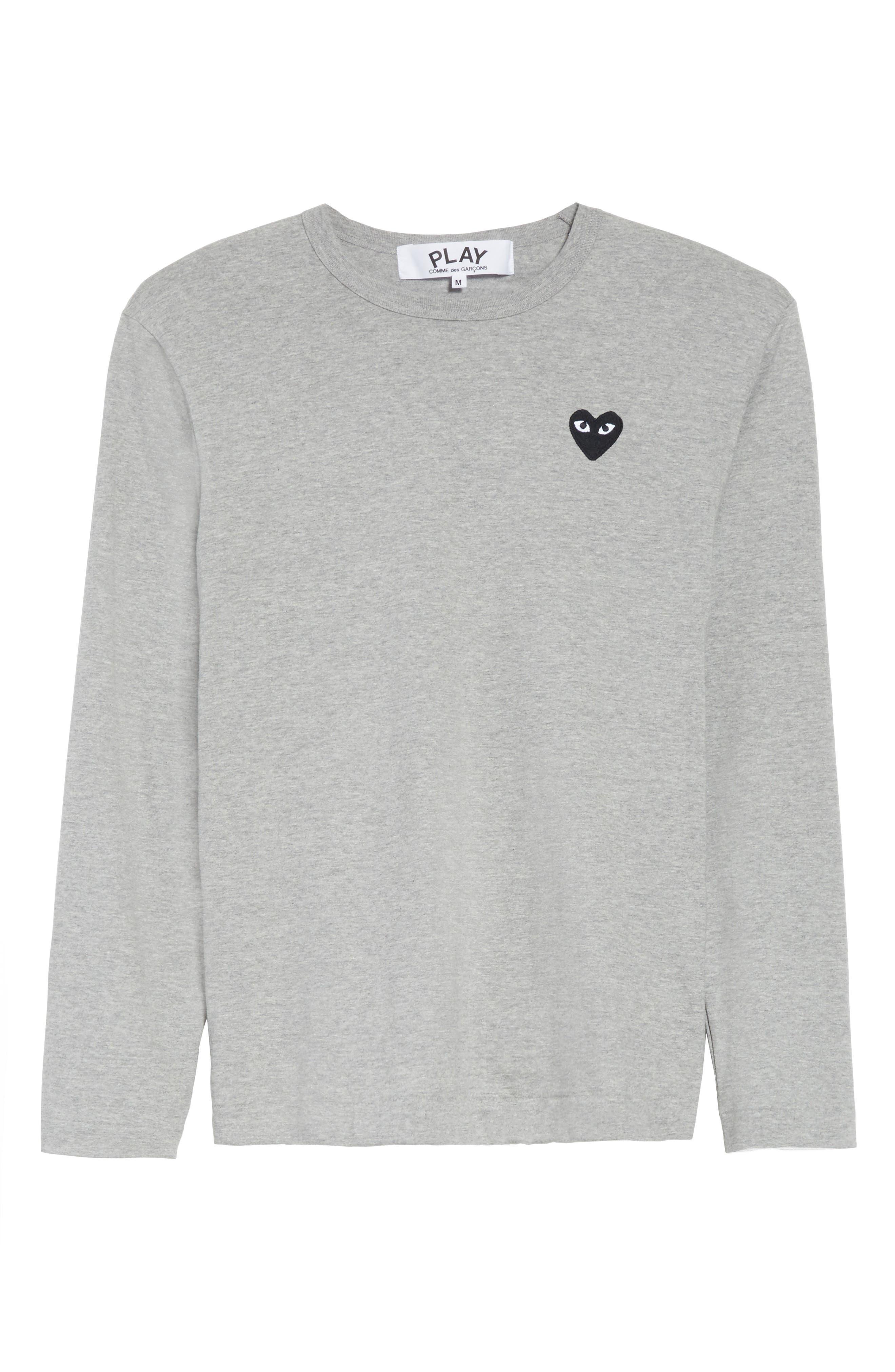 PLAY Long Sleeve T-Shirt,                             Alternate thumbnail 6, color,                             Grey