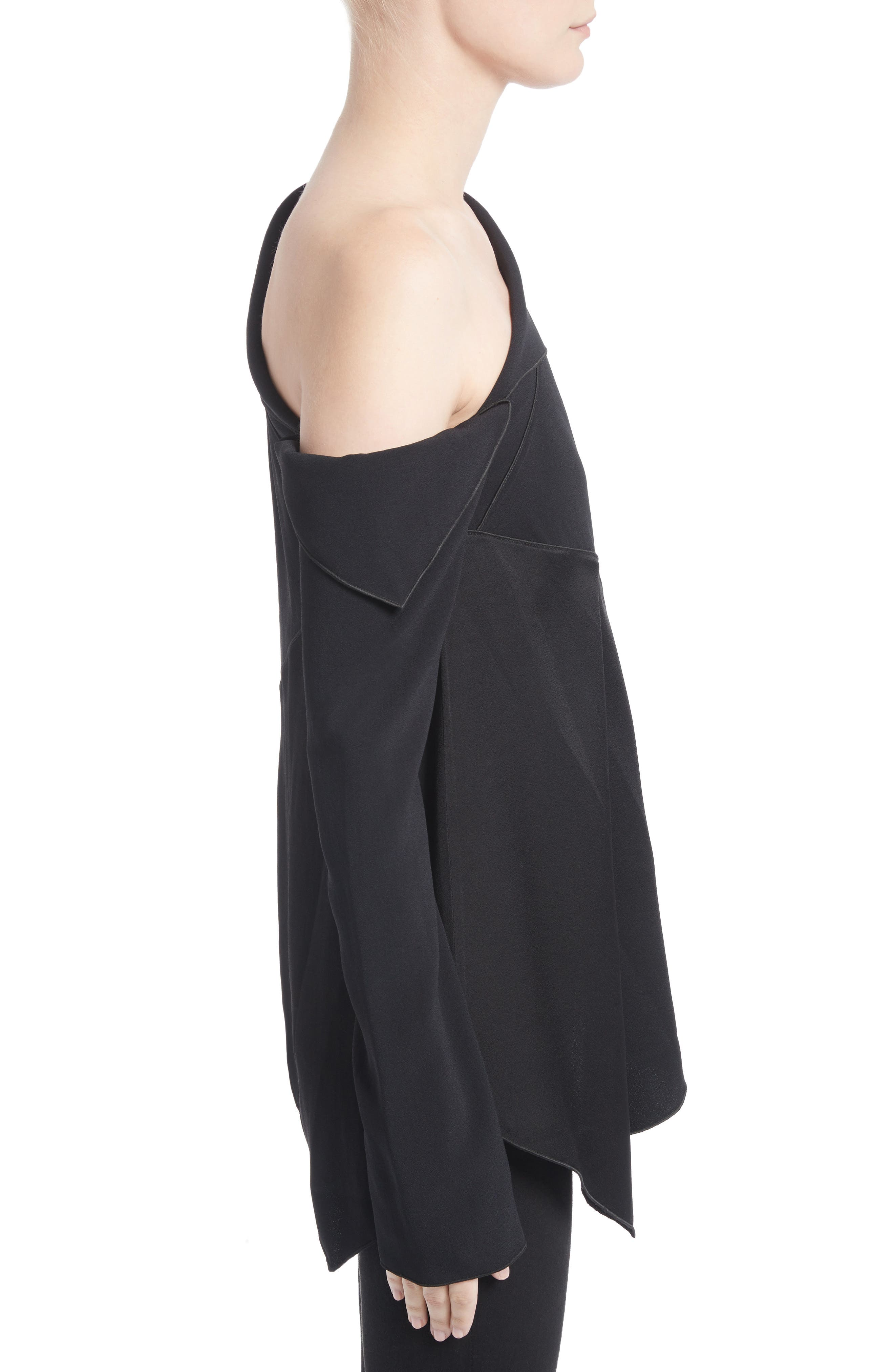 Alternate Image 3  - Proenza Schouler Single Shoulder Satin Back Crepe Blouse